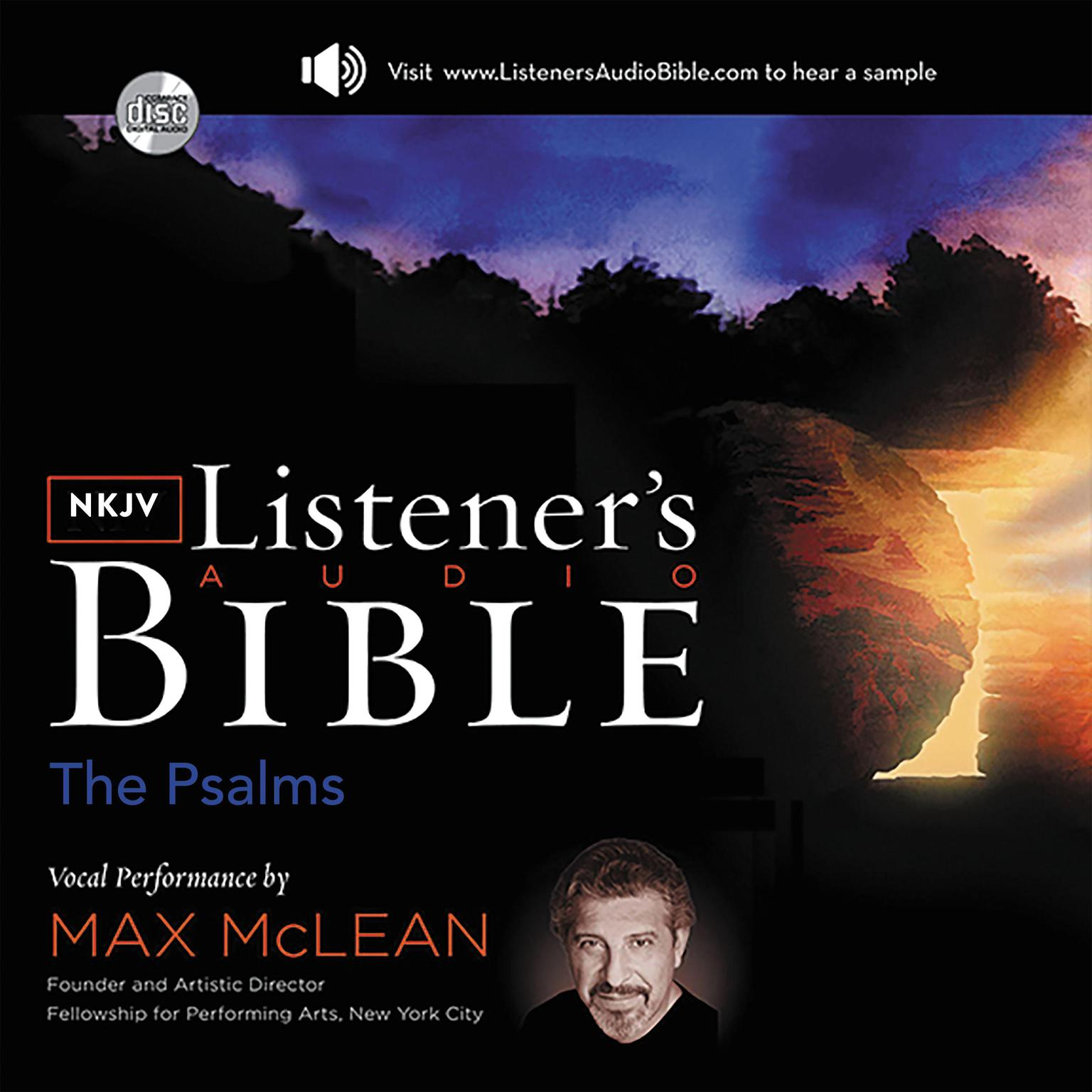 Printable The KJV Listener's Audio Bible, New Testament: Vocal Performance by Max McLean Audiobook Cover Art