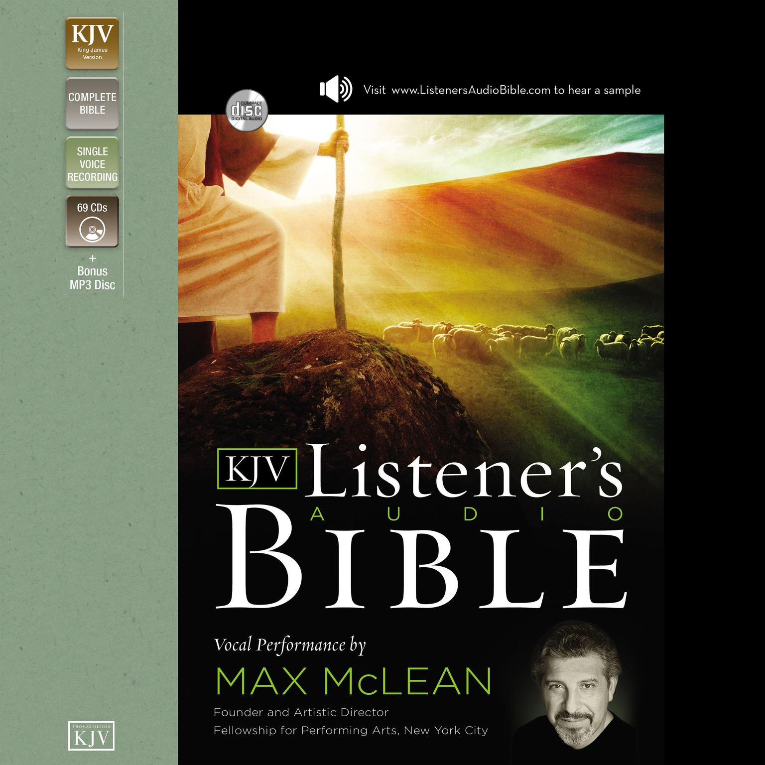 Printable The KJV Listener's Audio Bible, Old Testament: Vocal Performance by Max McLean Audiobook Cover Art