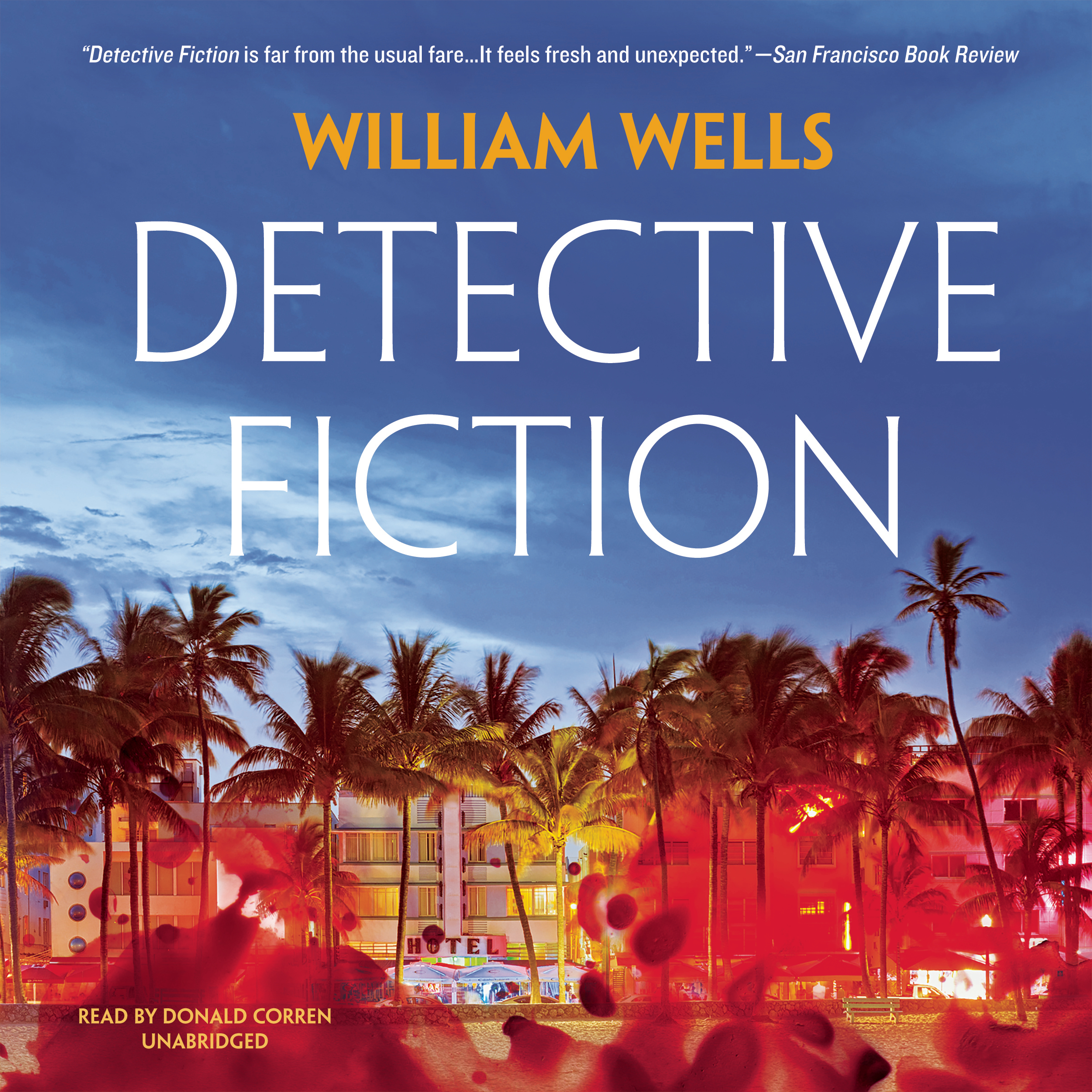 Printable Detective Fiction Audiobook Cover Art