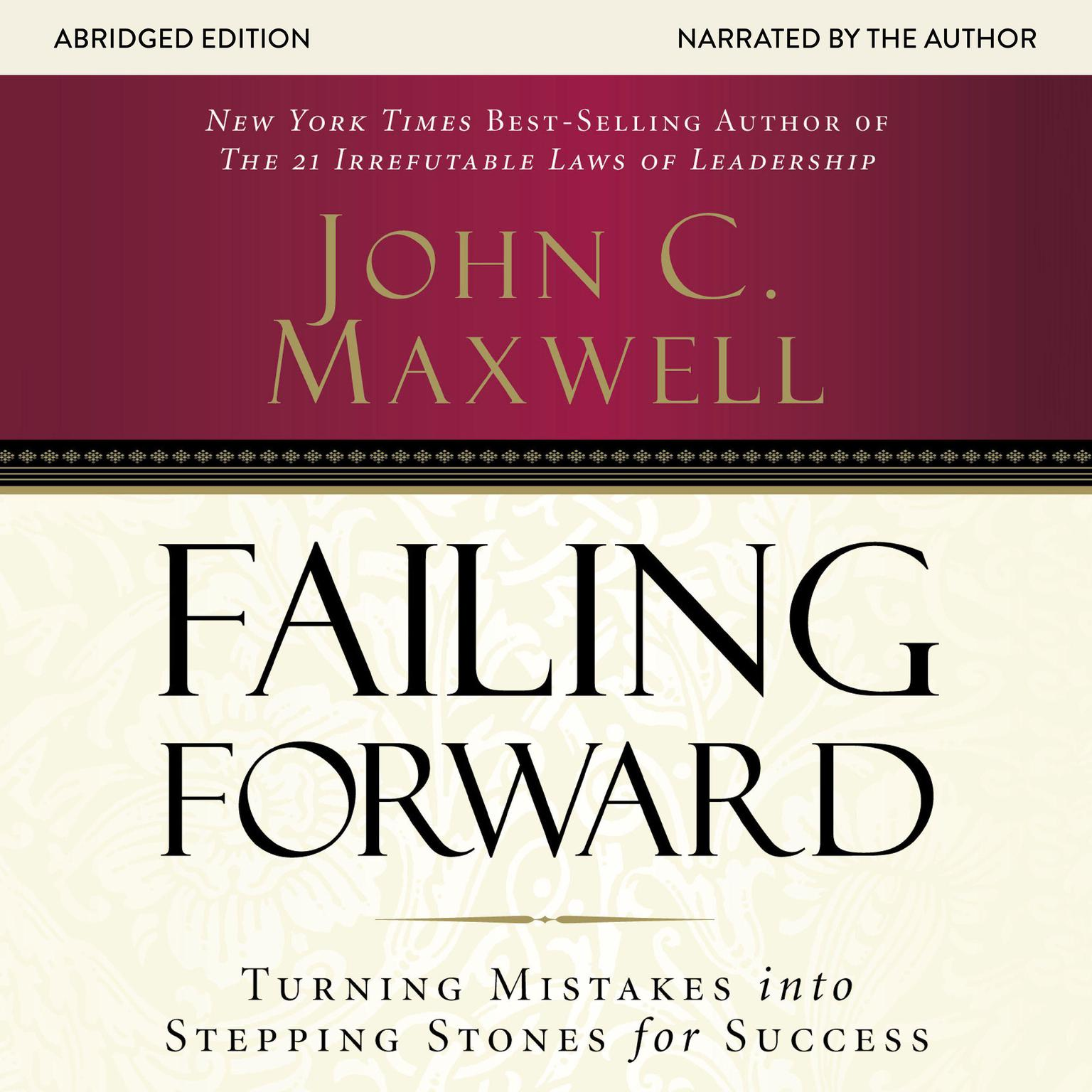 Printable Failing Forward: Turning Mistakes into Stepping Stones for Success Audiobook Cover Art