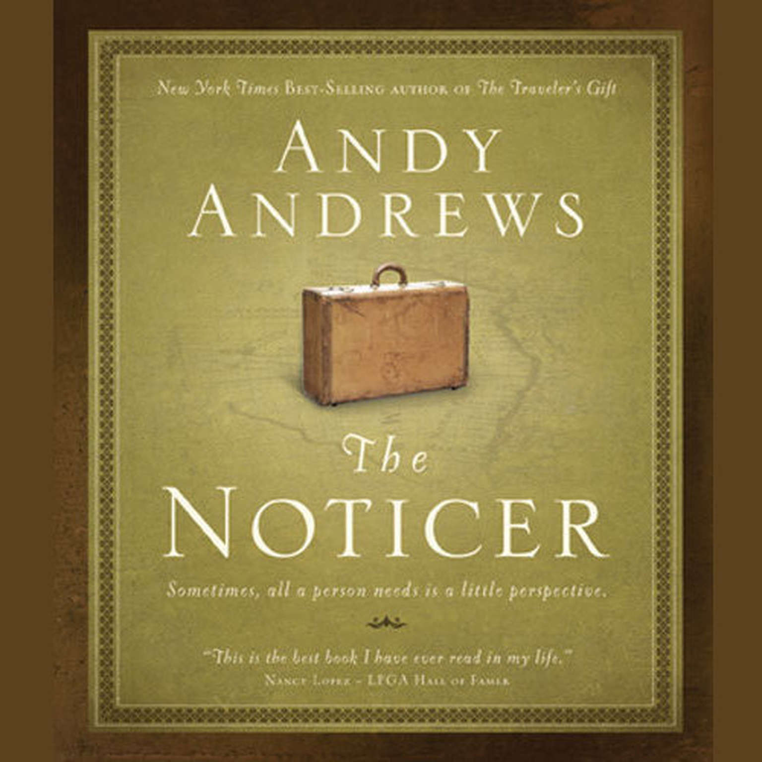 Printable The Noticer: Sometimes, all a person needs is a little perspective. Audiobook Cover Art
