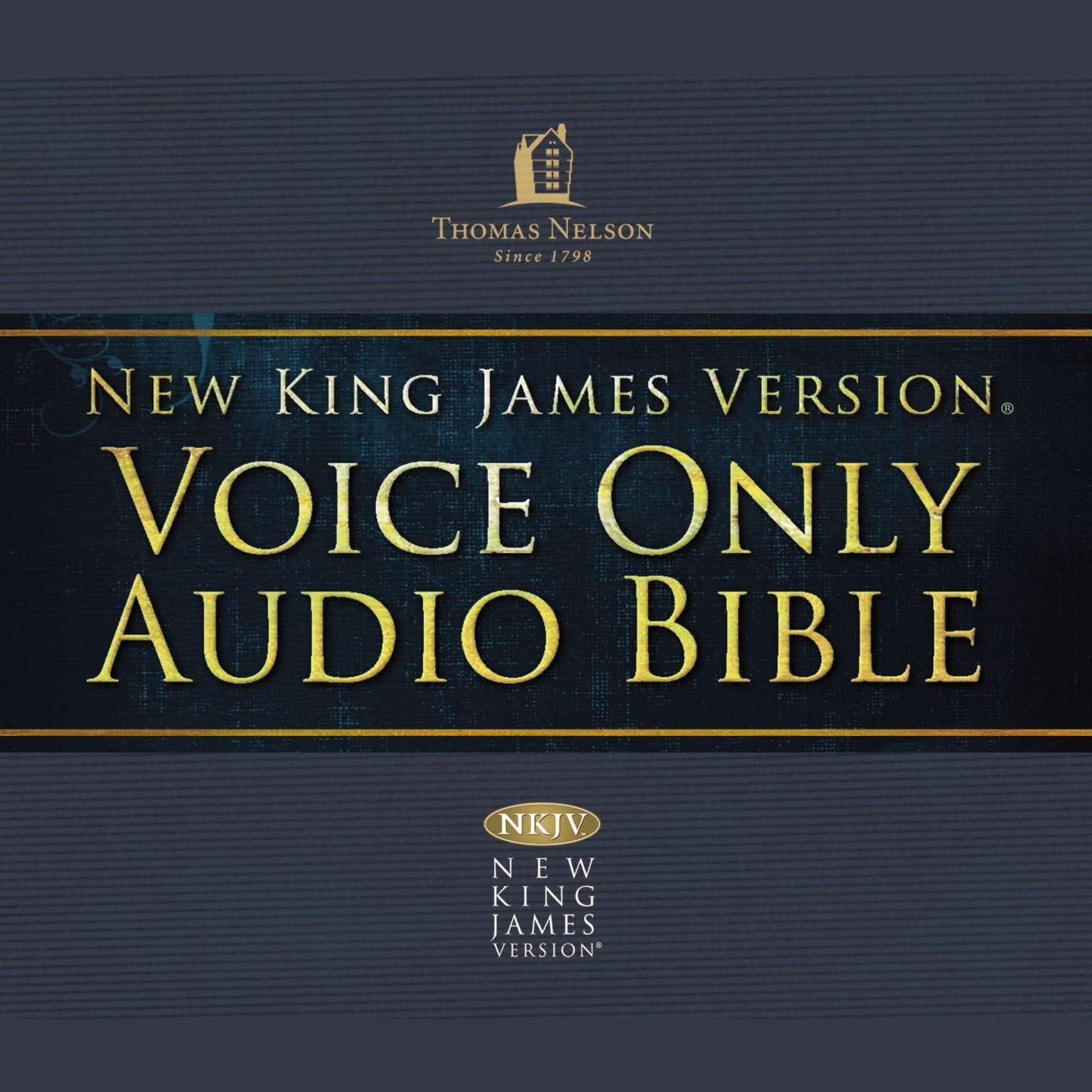 Printable NKJV Voice Only Audio Bible Audiobook Cover Art