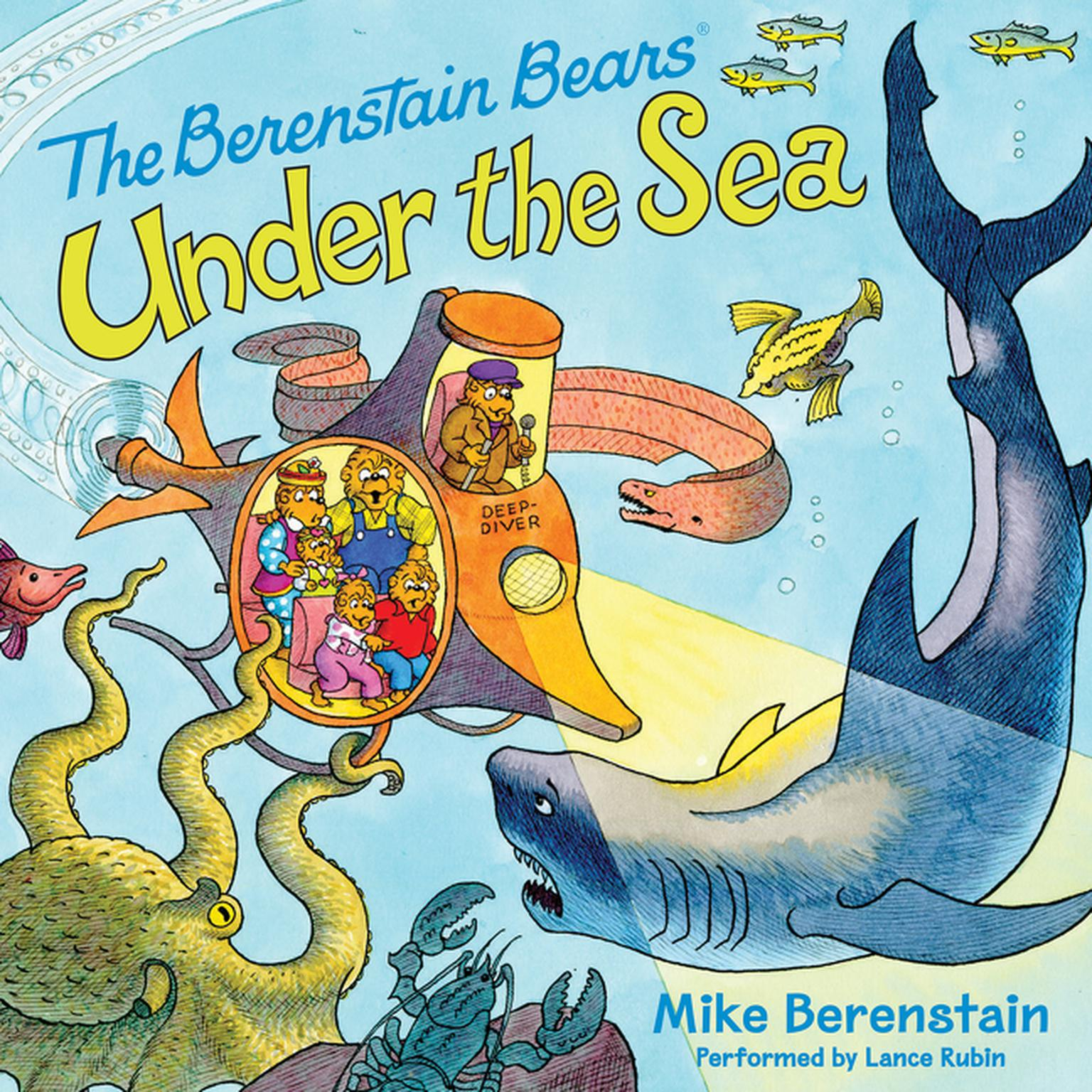 Printable Berenstain Bears Under the Sea Audiobook Cover Art
