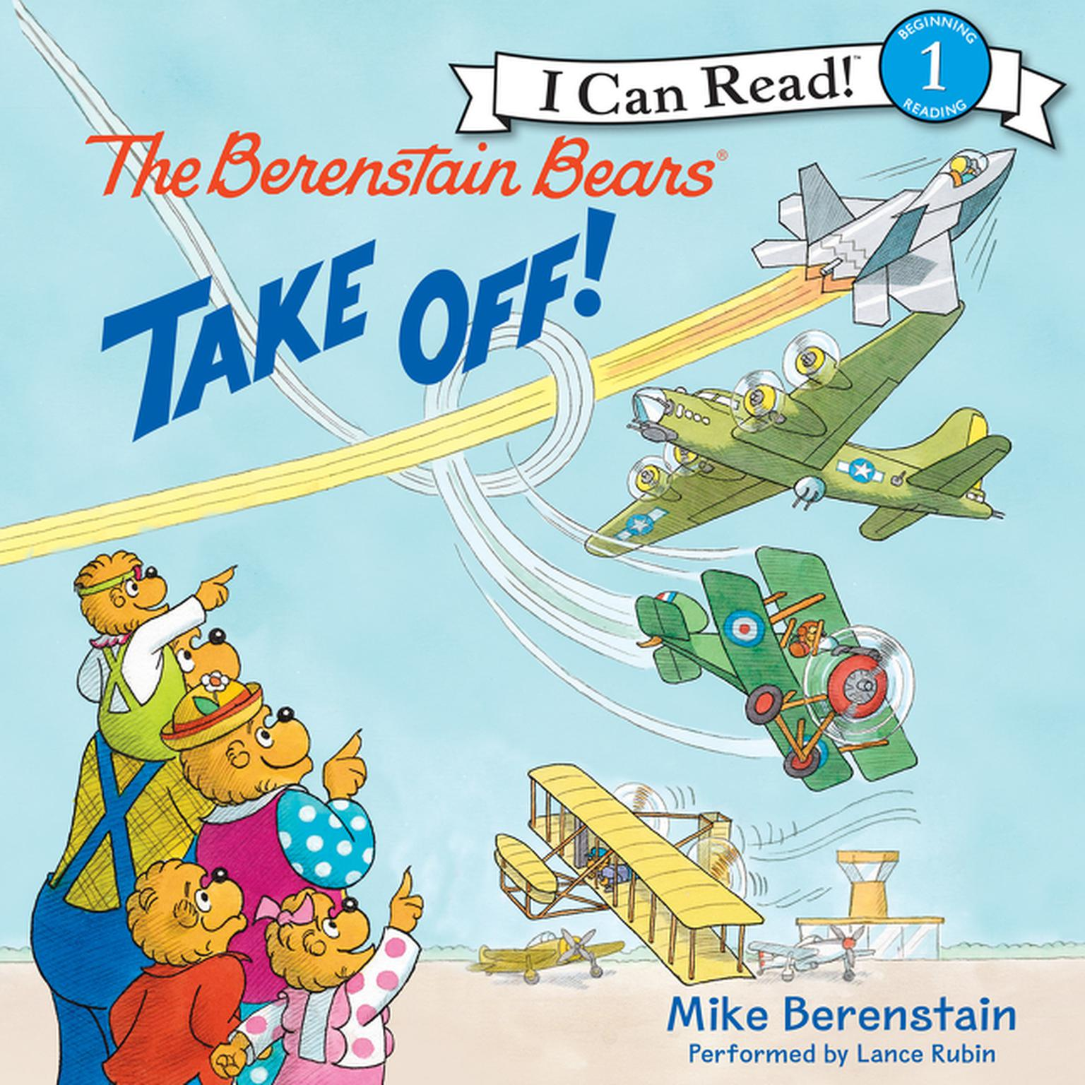 Printable The Berenstain Bears Take Off! Audiobook Cover Art
