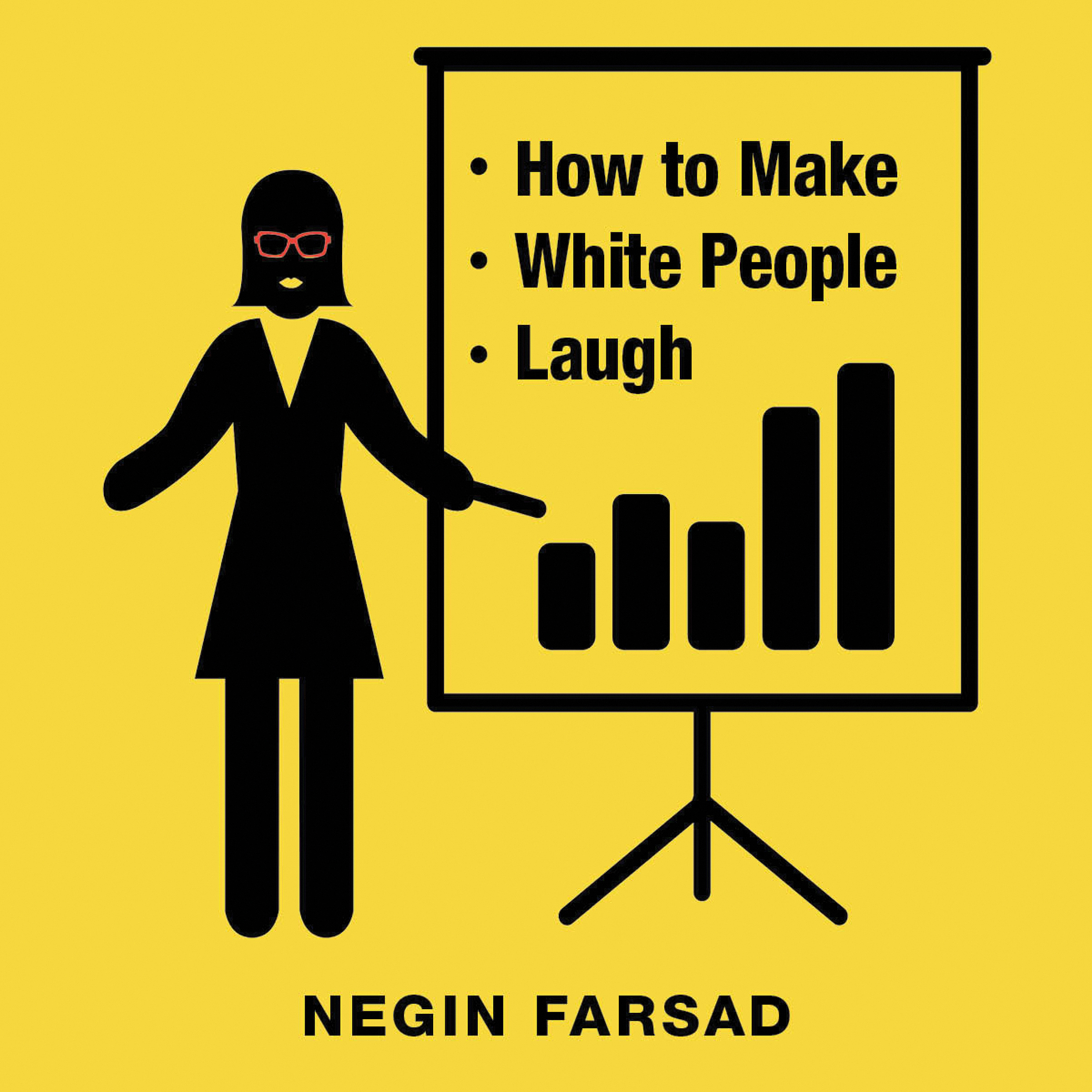 Printable How to Make White People Laugh Audiobook Cover Art