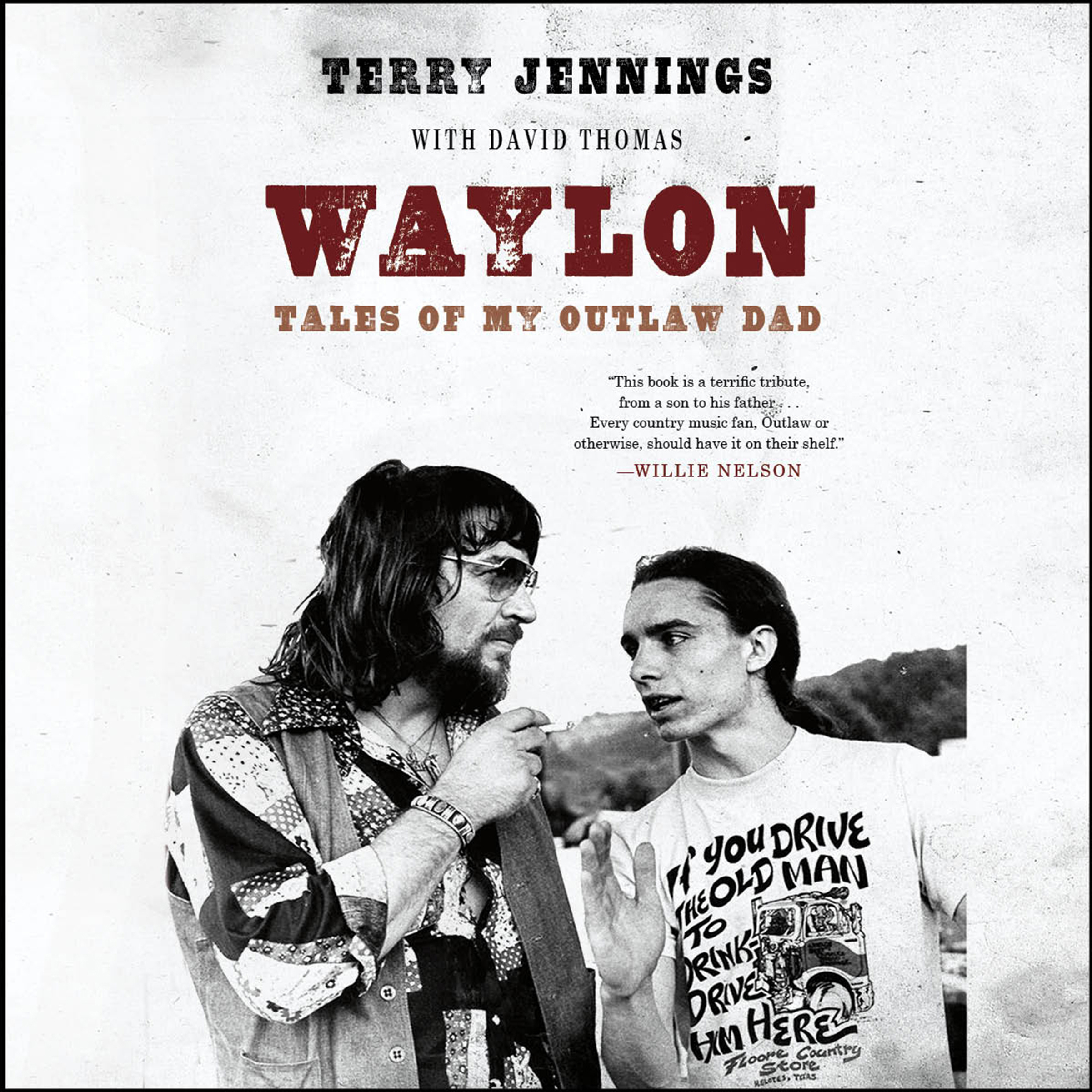 Printable Waylon: Tales of My Outlaw Dad Audiobook Cover Art