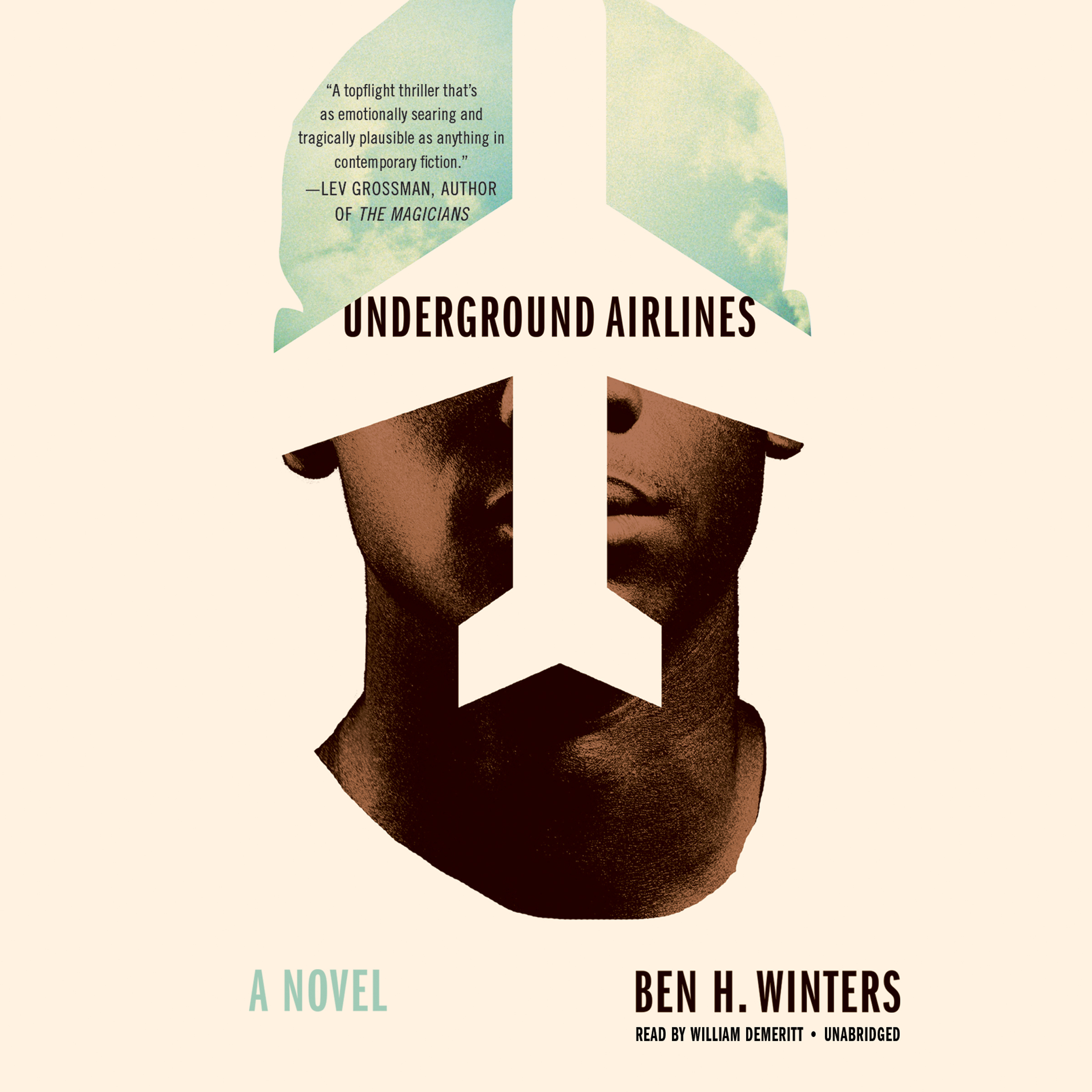 Printable Underground Airlines Audiobook Cover Art