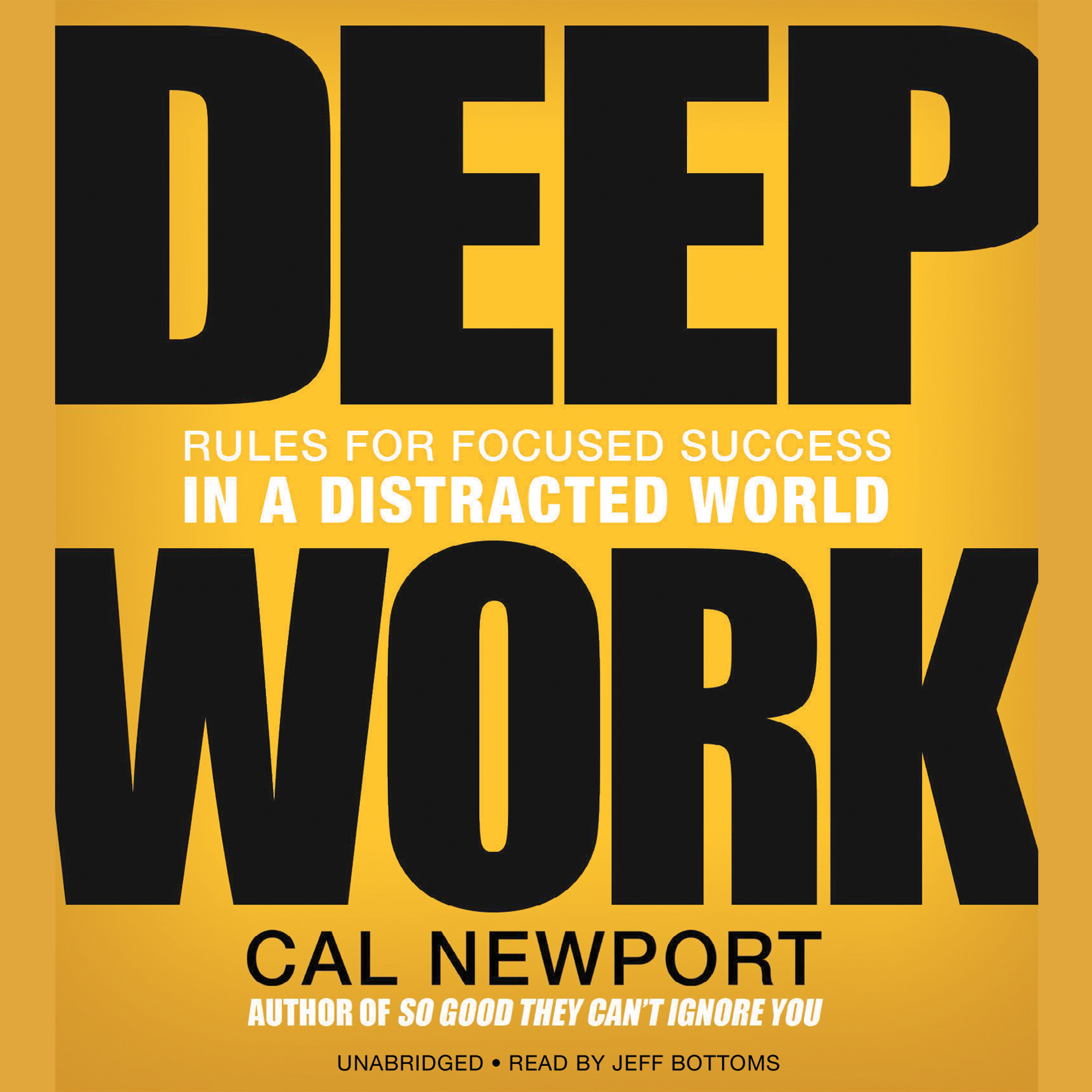 Printable Deep Work: Rules for Focused Success in a Distracted World Audiobook Cover Art