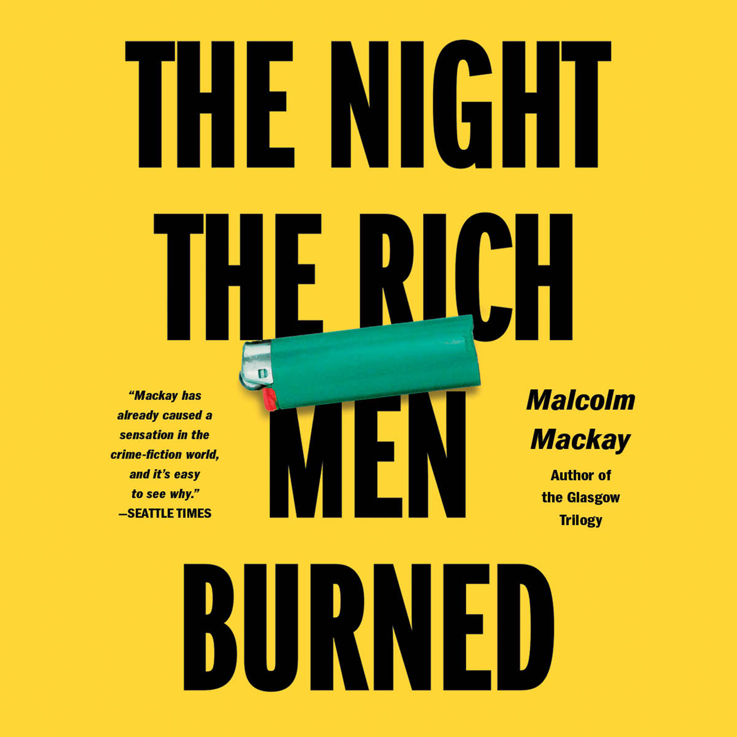 Printable The Night the Rich Men Burned Audiobook Cover Art