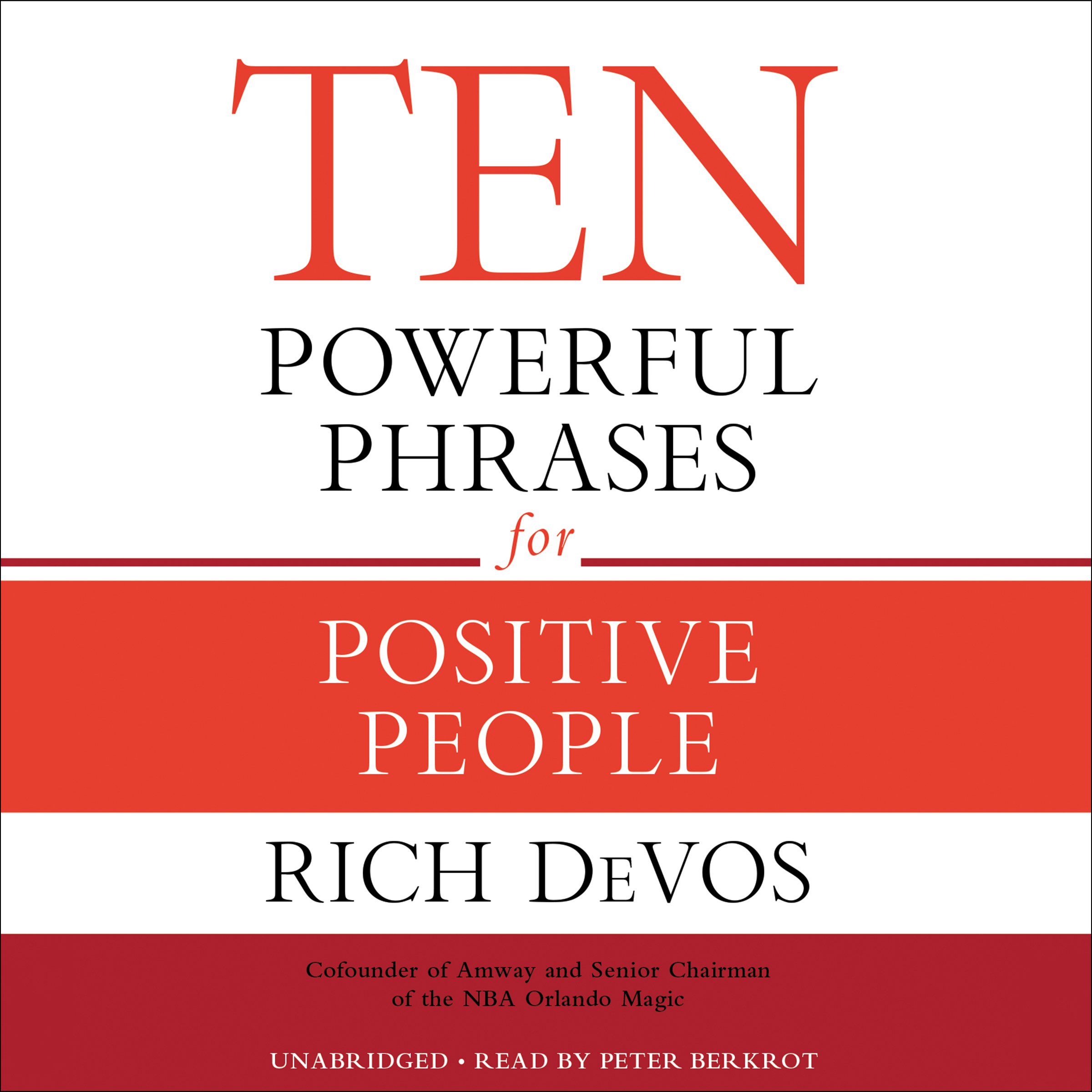 Printable Ten Powerful Phrases for Positive People Audiobook Cover Art