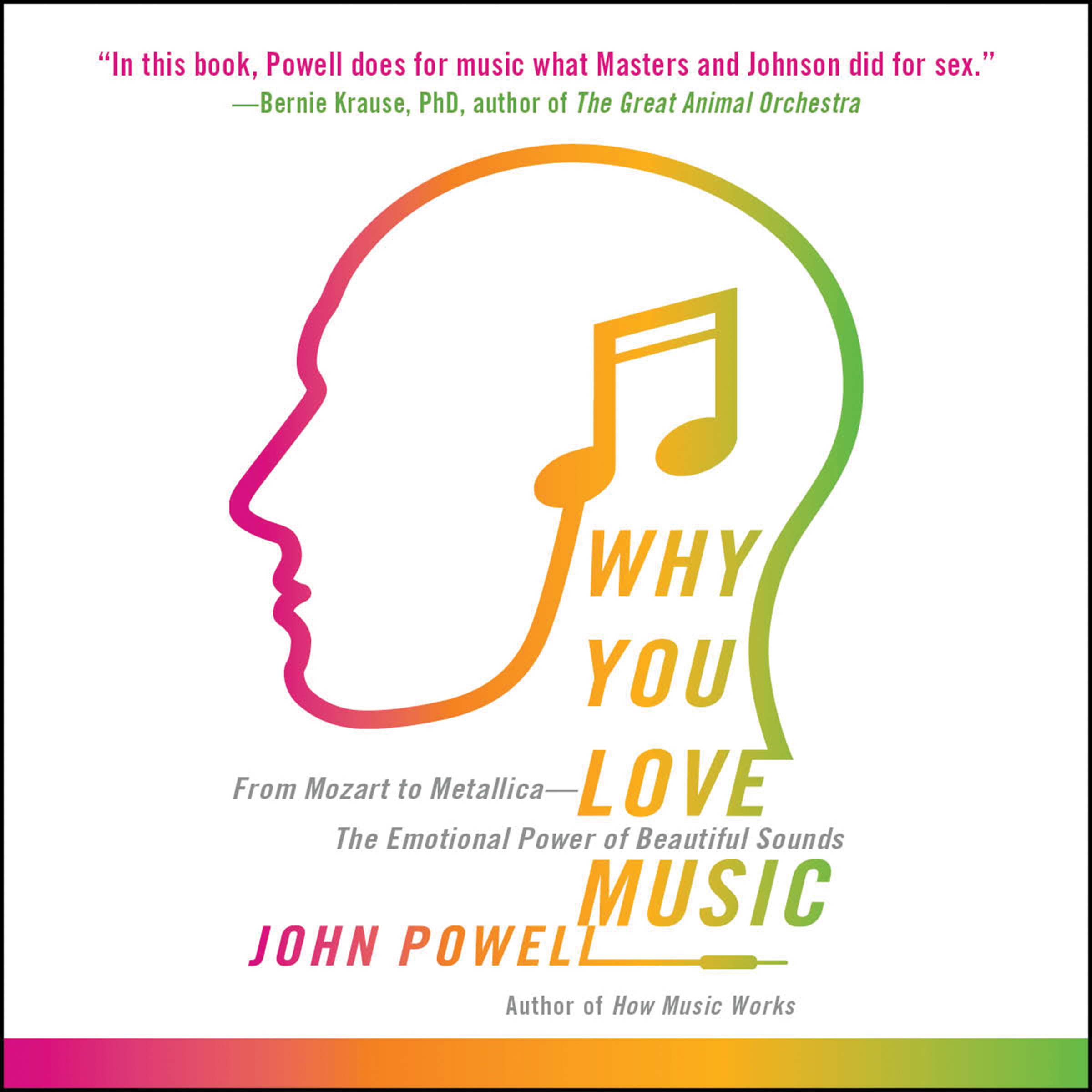 Printable Why You Love Music: From Mozart to Metallica—The Emotional Power of Beautiful Sounds Audiobook Cover Art