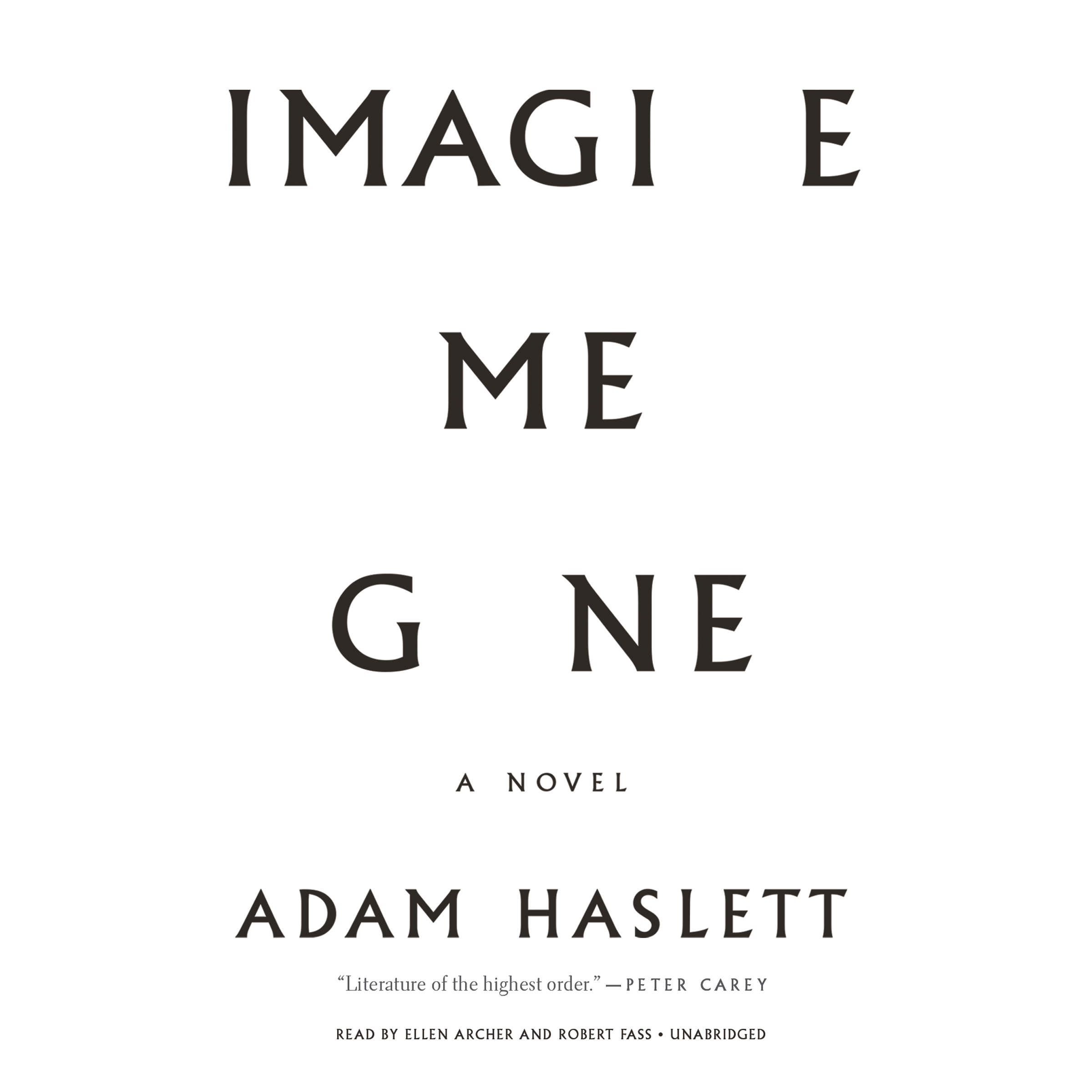 Printable Imagine Me Gone Audiobook Cover Art