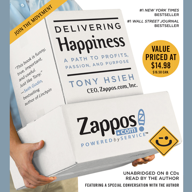 Printable Delivering Happiness: A Path to Profits, Passion, and Purpose Audiobook Cover Art