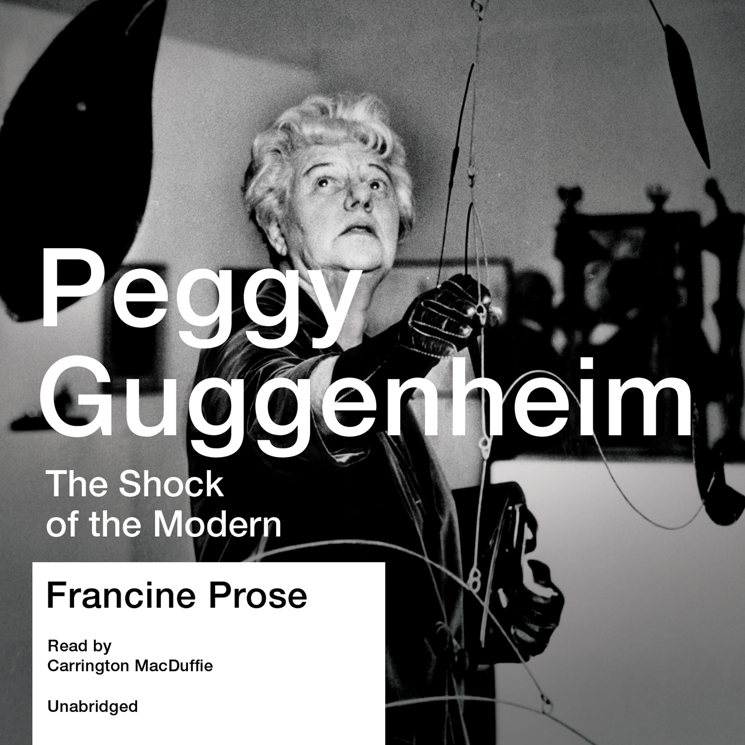 Printable Peggy Guggenheim: The Shock of the Modern Audiobook Cover Art