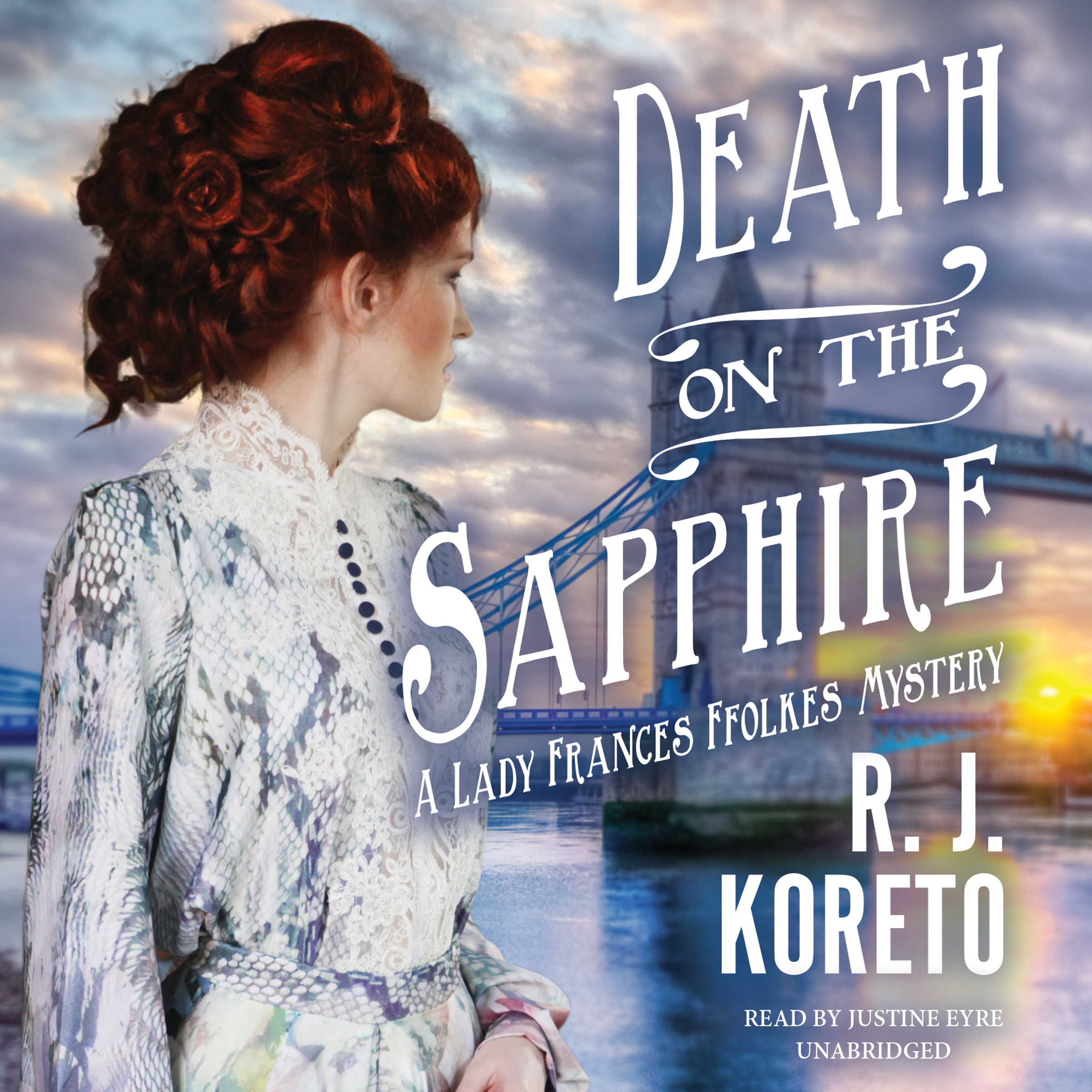 Printable Death on the Sapphire: A Lady Frances Ffolkes Mystery Audiobook Cover Art