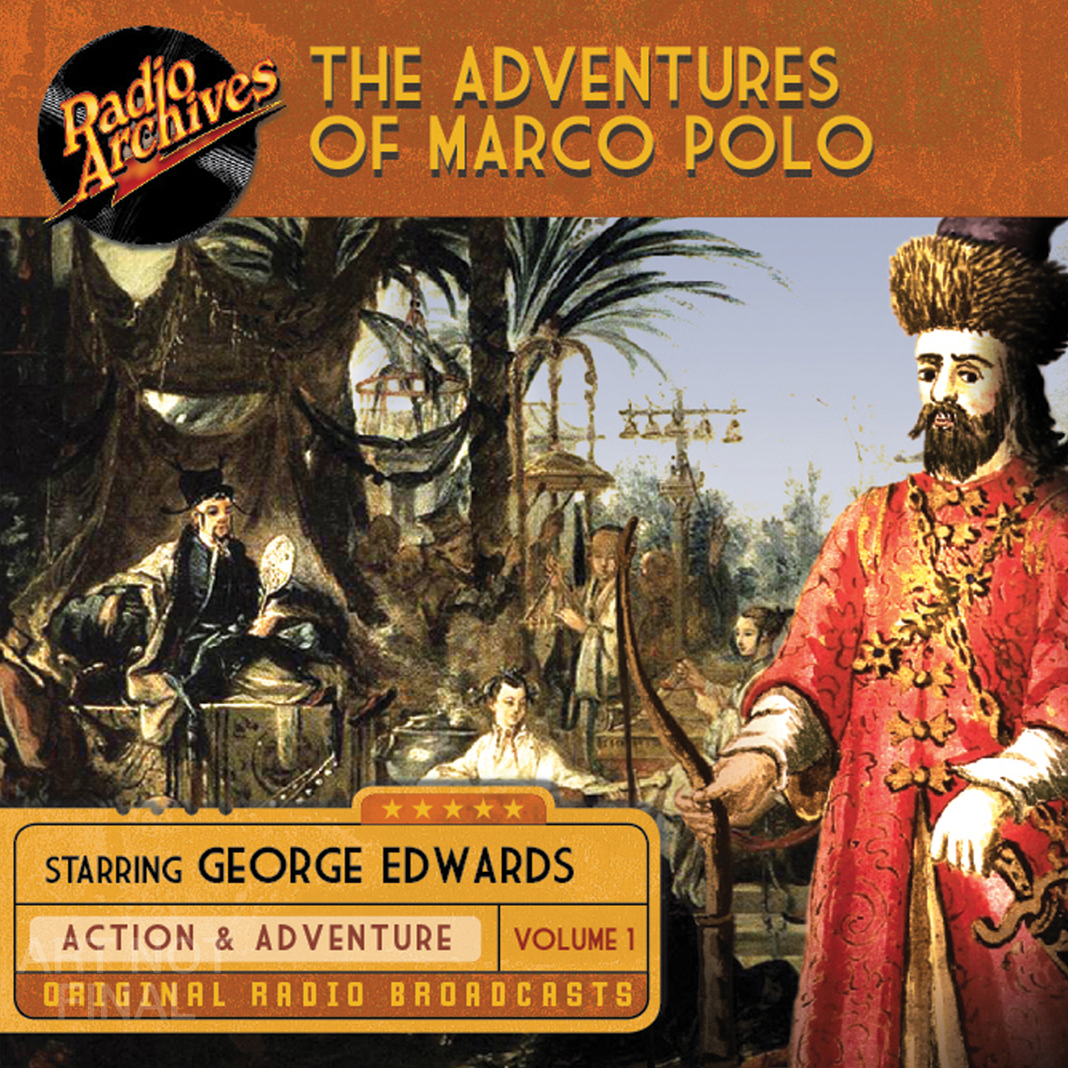 Printable The Adventures of Marco Polo, Volume 1 Audiobook Cover Art