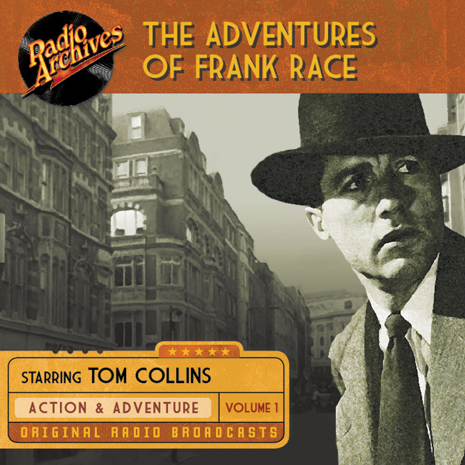 Printable The Adventures of Frank Race, Volume 1 Audiobook Cover Art