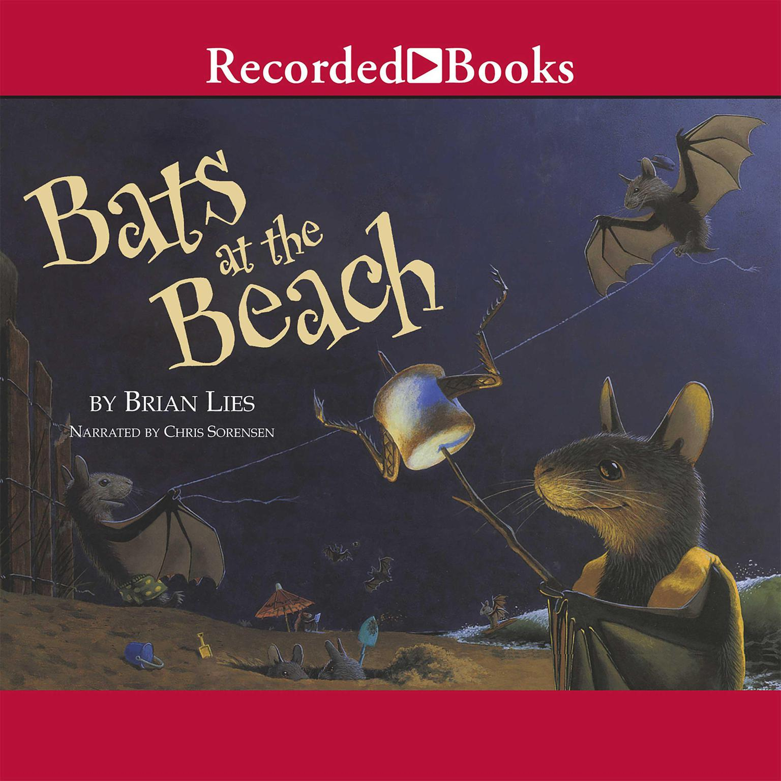 Printable Bats at the Beach Audiobook Cover Art