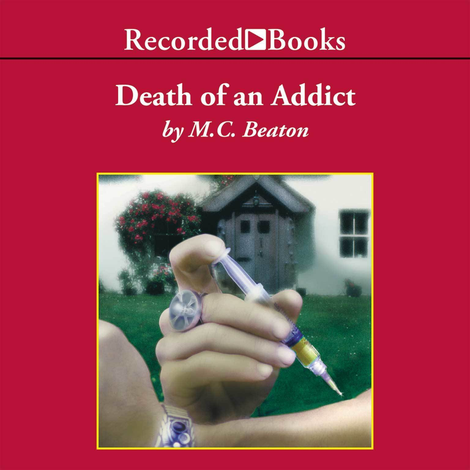 Printable Death of an Addict Audiobook Cover Art