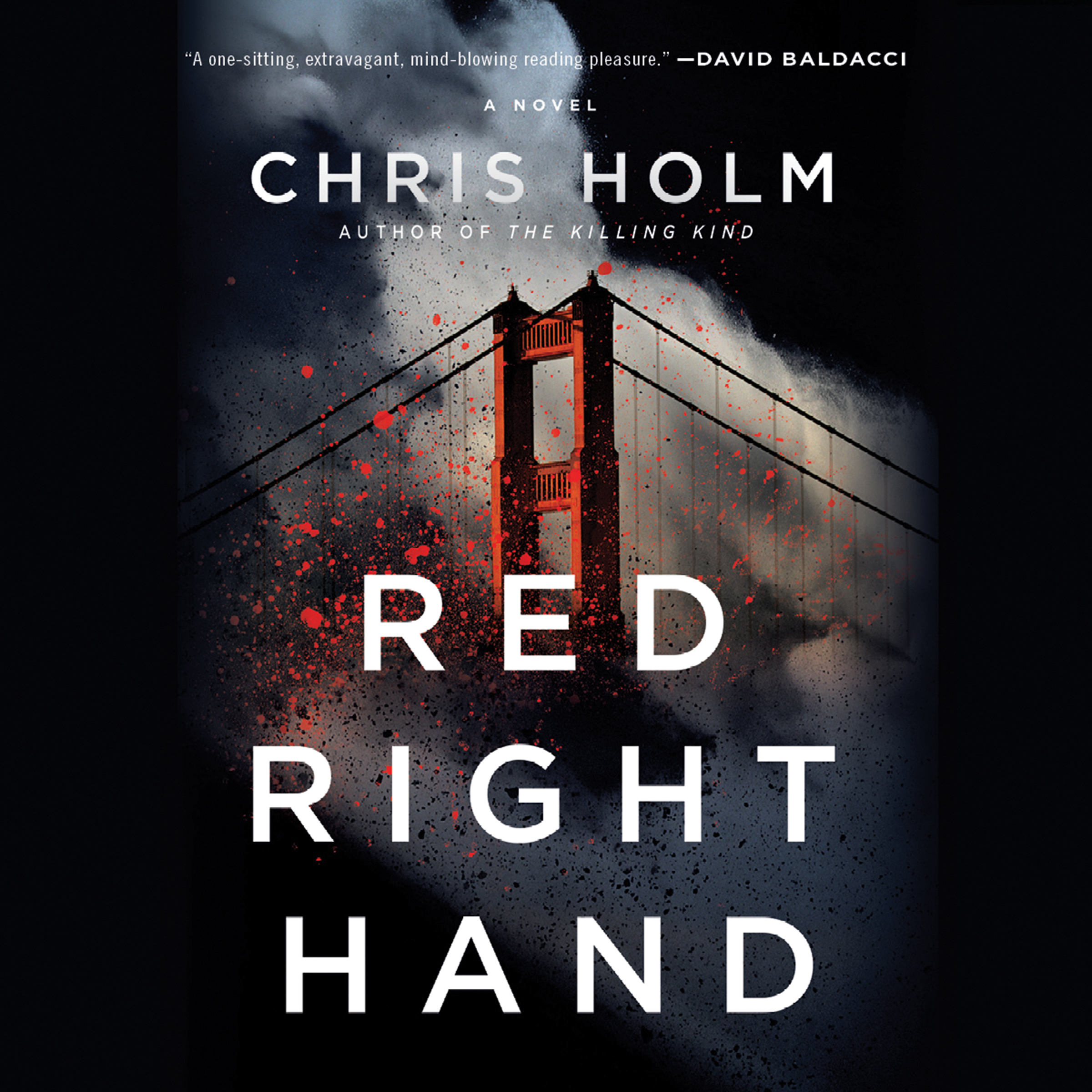 Printable RED RIGHT HAND Audiobook Cover Art