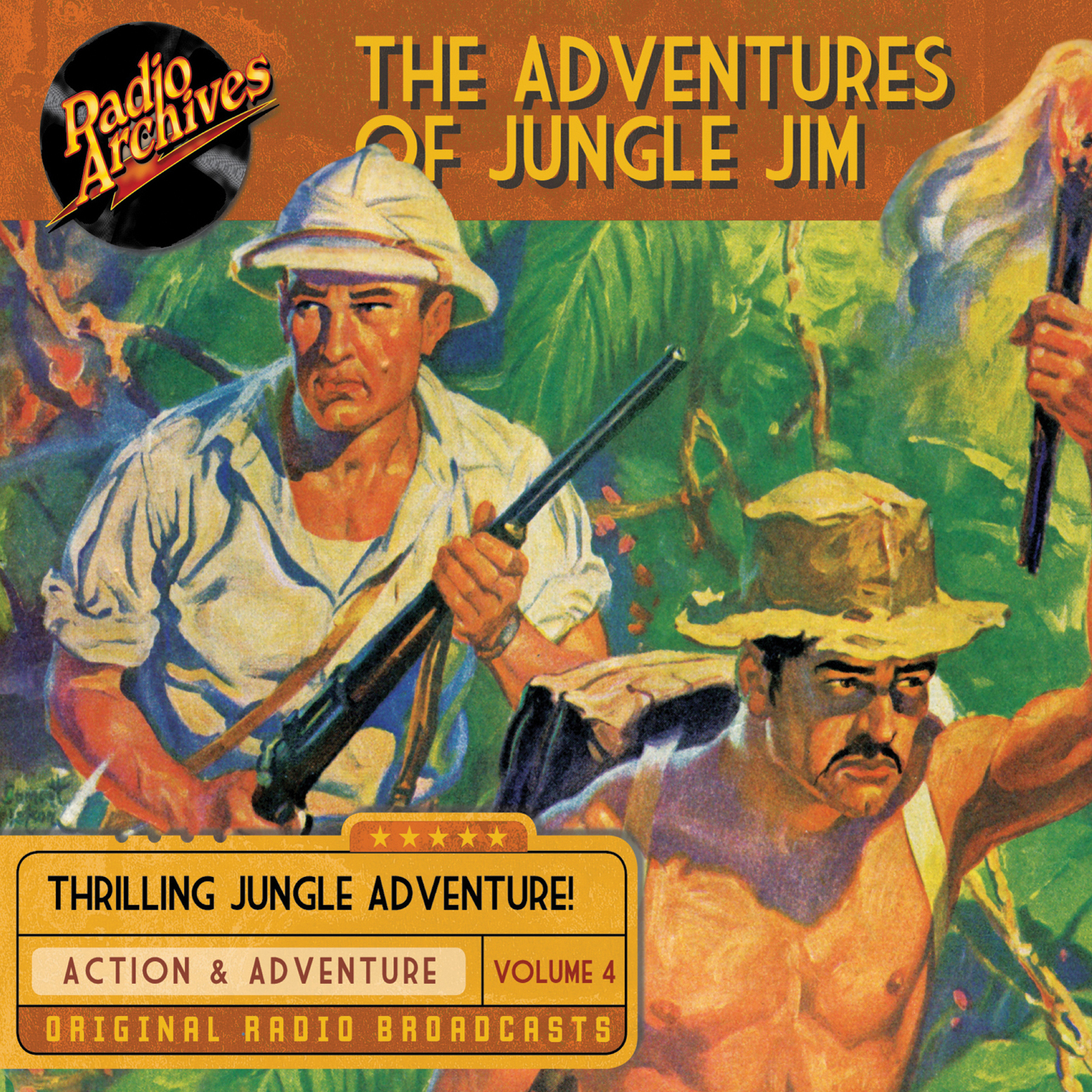 Printable The Adventures of Jungle Jim, Volume 4 Audiobook Cover Art