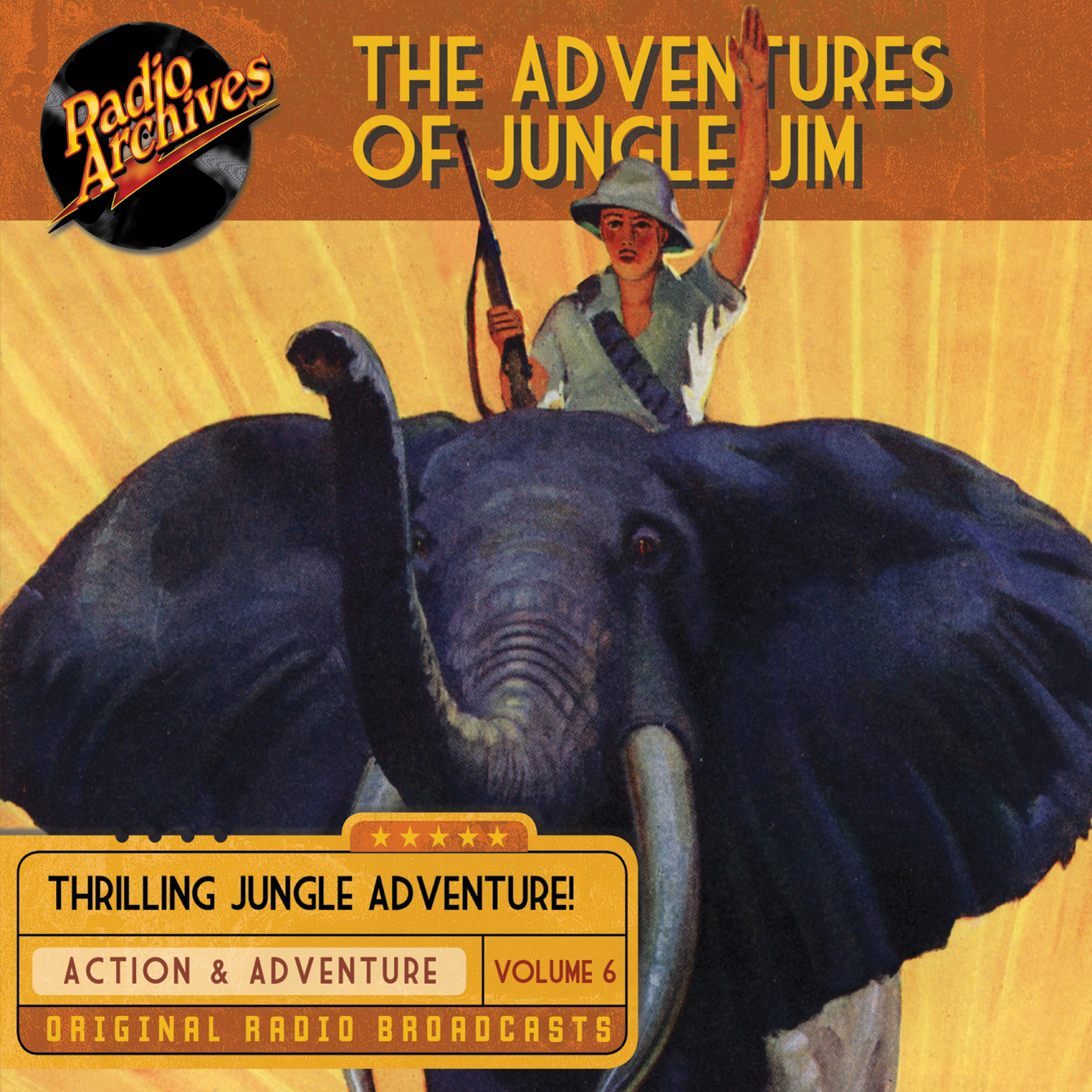 Printable The Adventures of Jungle Jim, Volume 6 Audiobook Cover Art