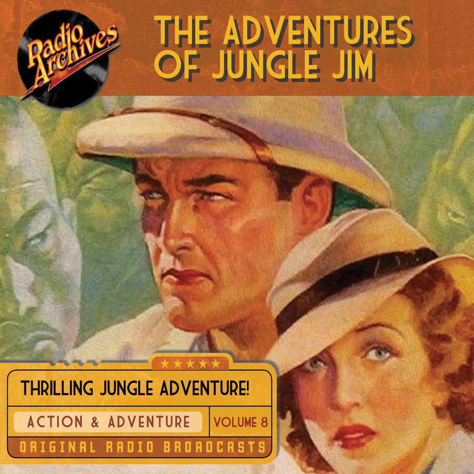 Printable The Adventures of Jungle Jim, Volume 8 Audiobook Cover Art