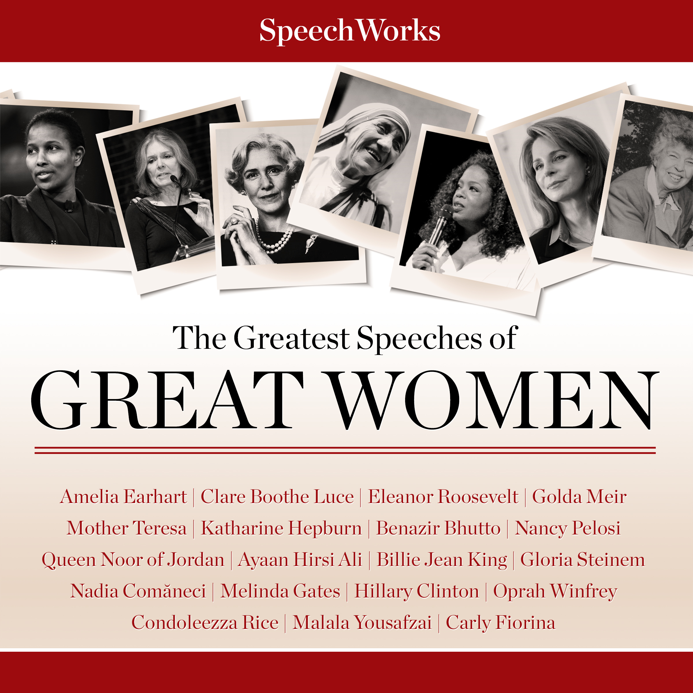 Printable The Greatest Speeches of Great Women Audiobook Cover Art