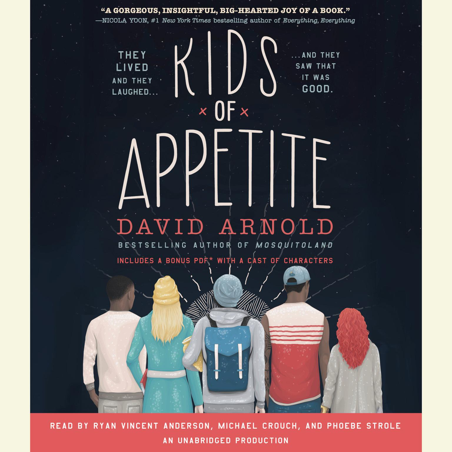 Printable Kids of Appetite Audiobook Cover Art