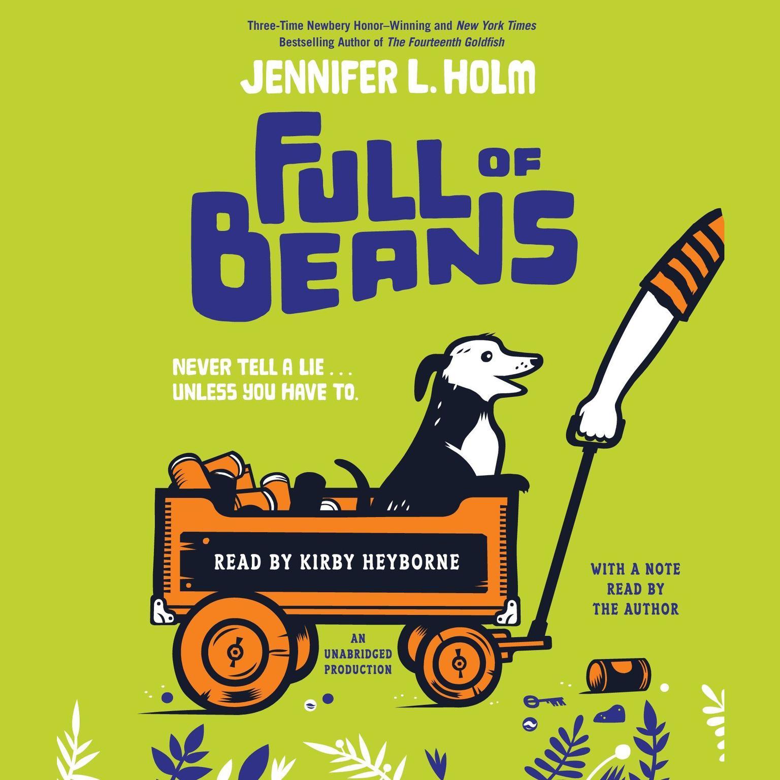 Printable Full of Beans Audiobook Cover Art