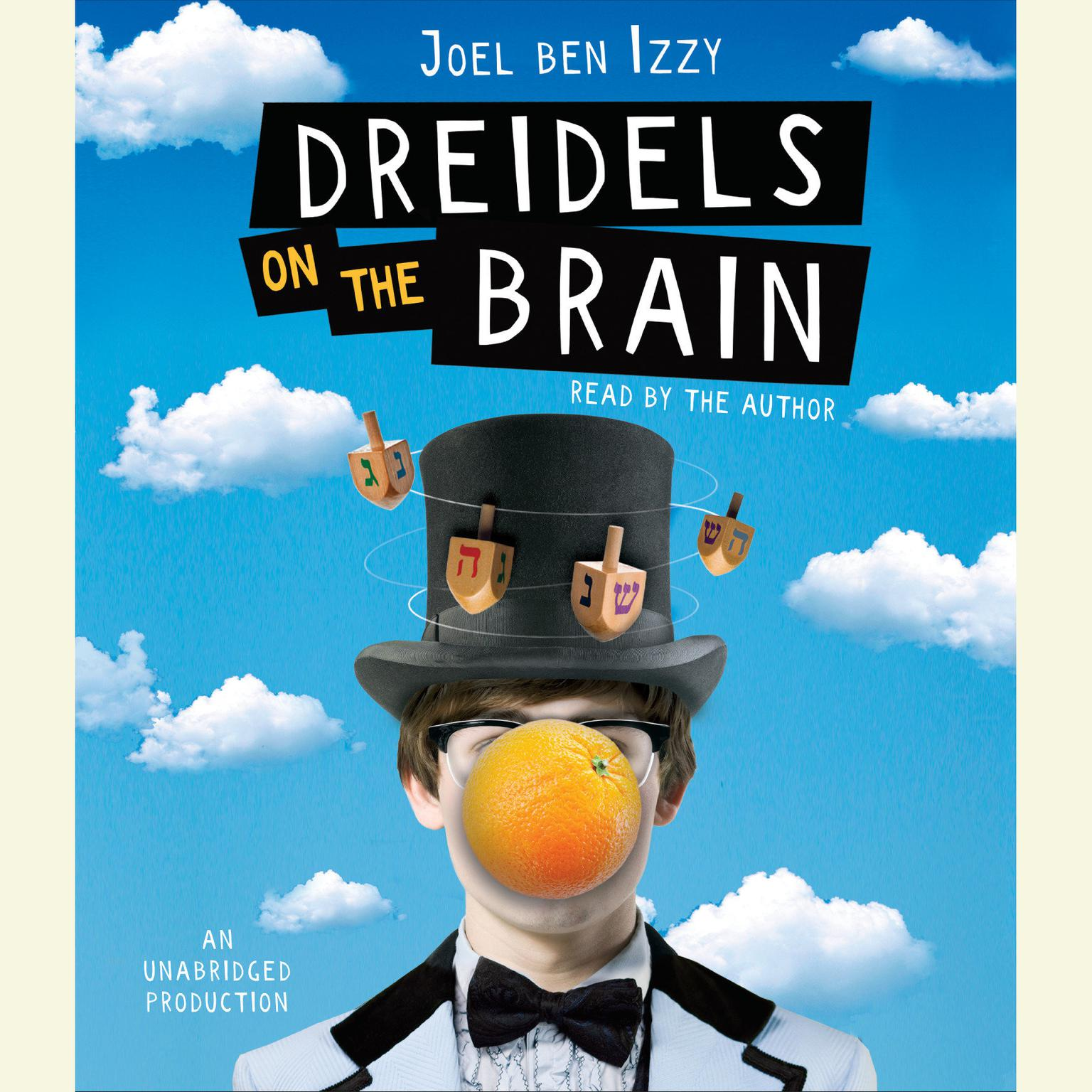 Printable Dreidels on the Brain Audiobook Cover Art