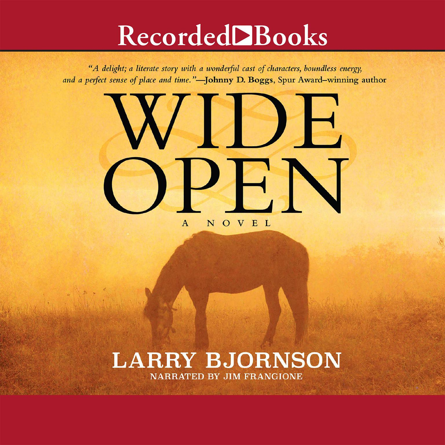 Printable Wide Open Audiobook Cover Art