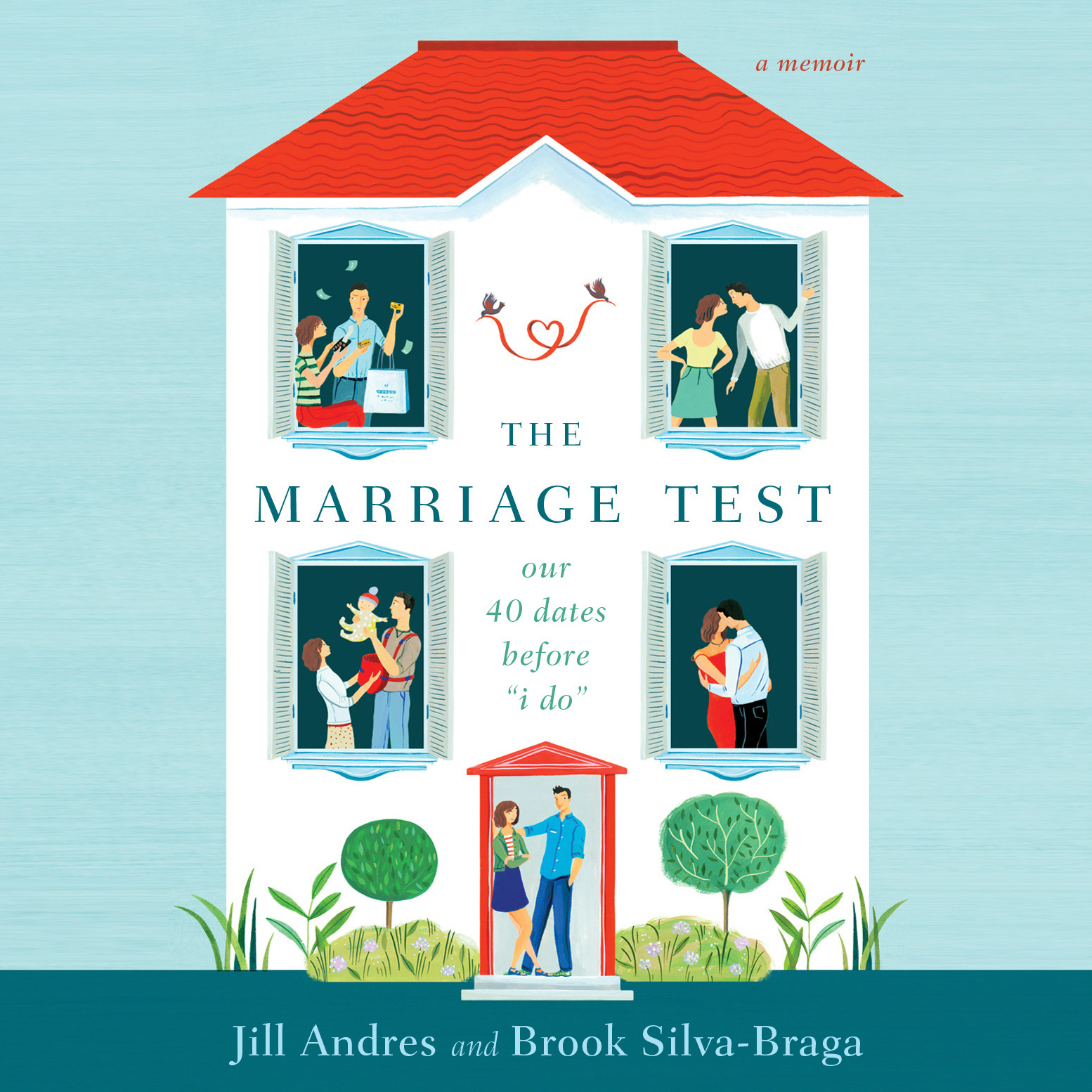 "Printable The Marriage Test: Our 40 Dates Before ""I Do"" Audiobook Cover Art"