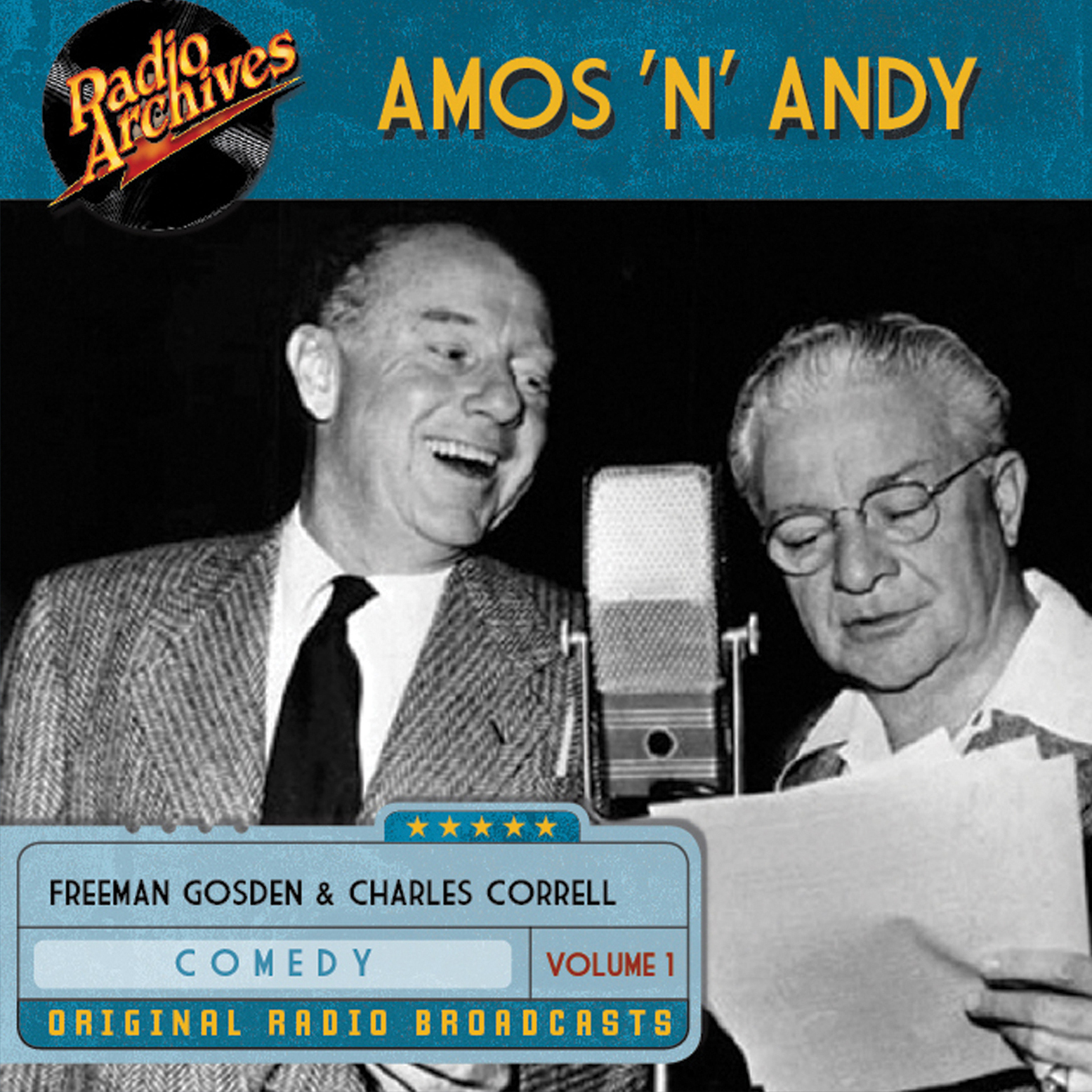 Printable Amos 'n' Andy, Vol. 1 Audiobook Cover Art