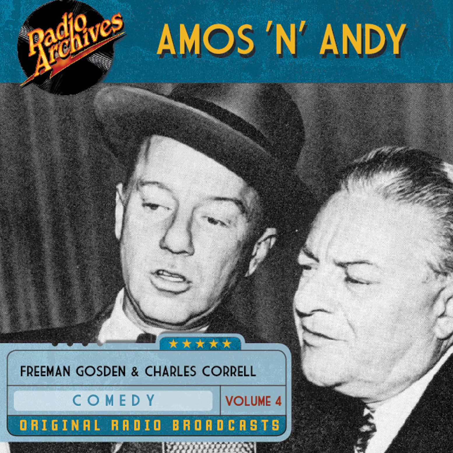 Printable Amos 'n' Andy, Volume 4 Audiobook Cover Art