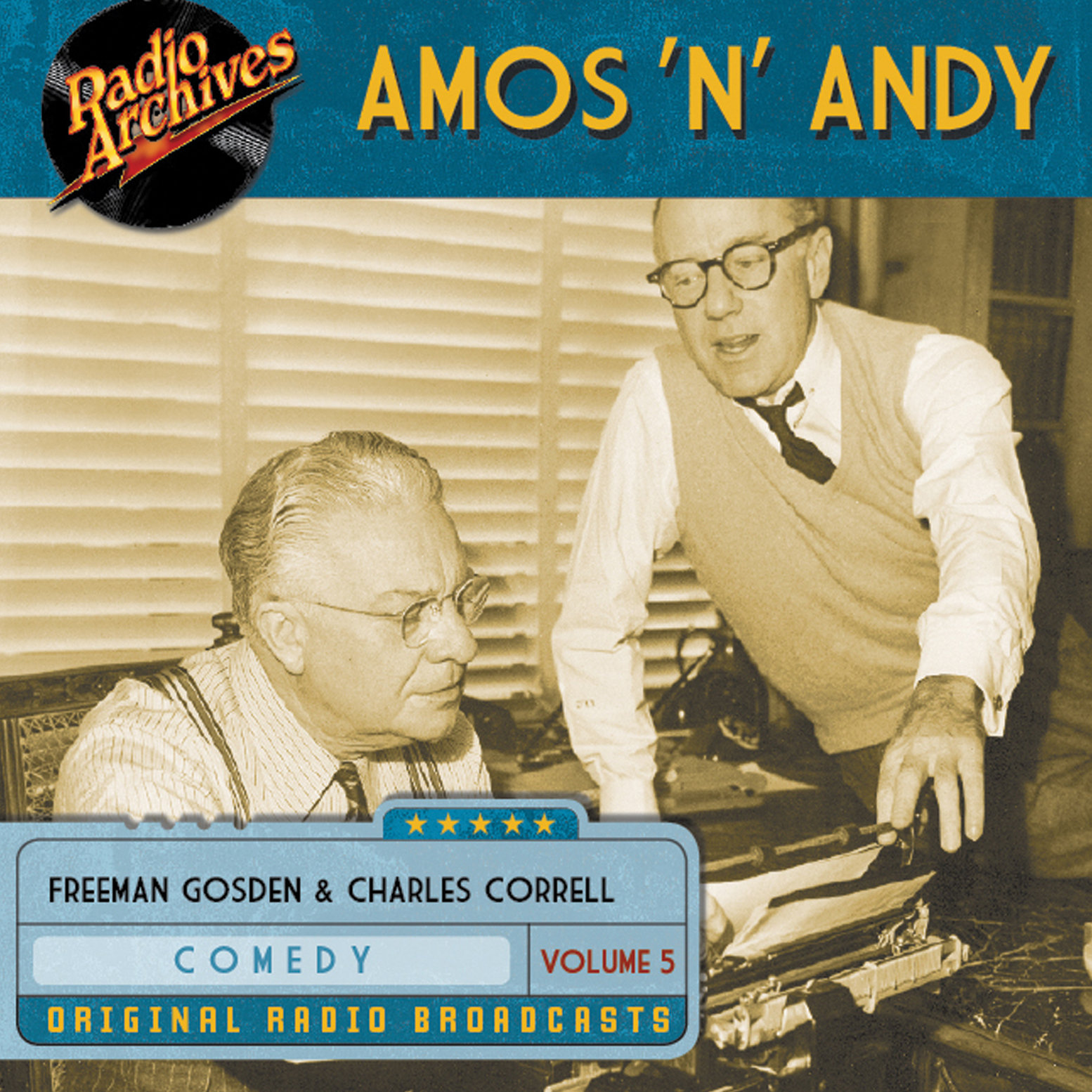 Printable Amos 'n' Andy, Volume 5 Audiobook Cover Art