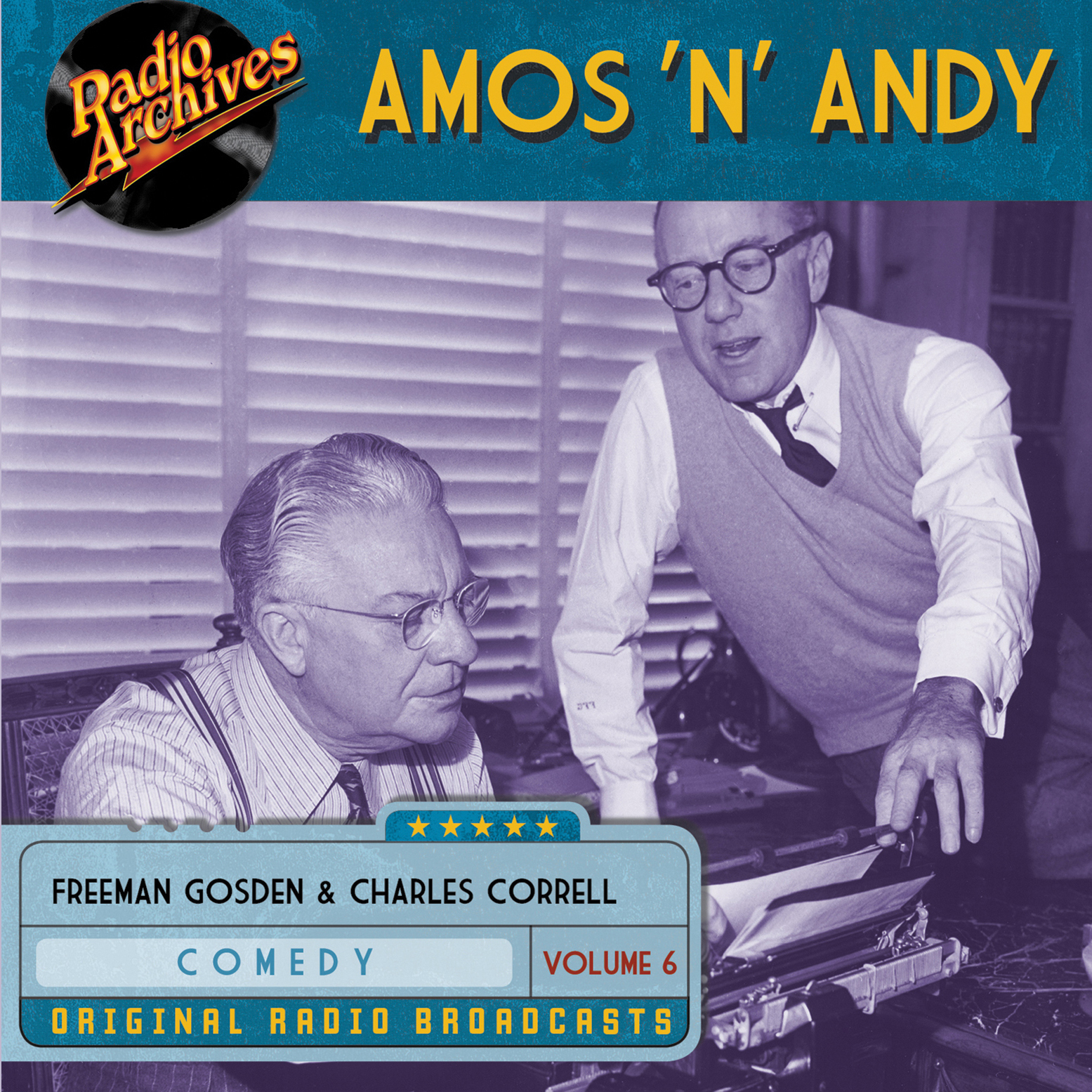 Printable Amos 'n' Andy, Volume 6 Audiobook Cover Art