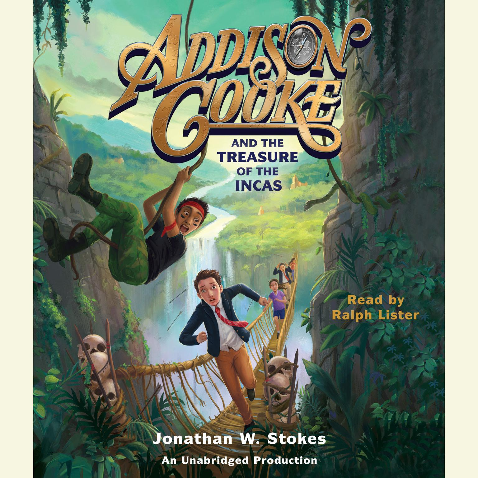 Printable Addison Cooke and the Treasure of the Incas Audiobook Cover Art