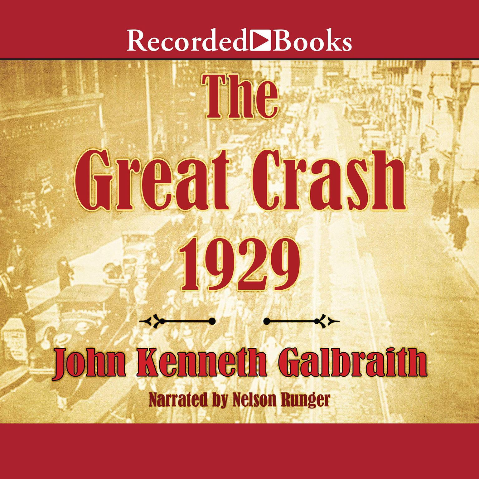 Printable The Great Crash 1929 Audiobook Cover Art