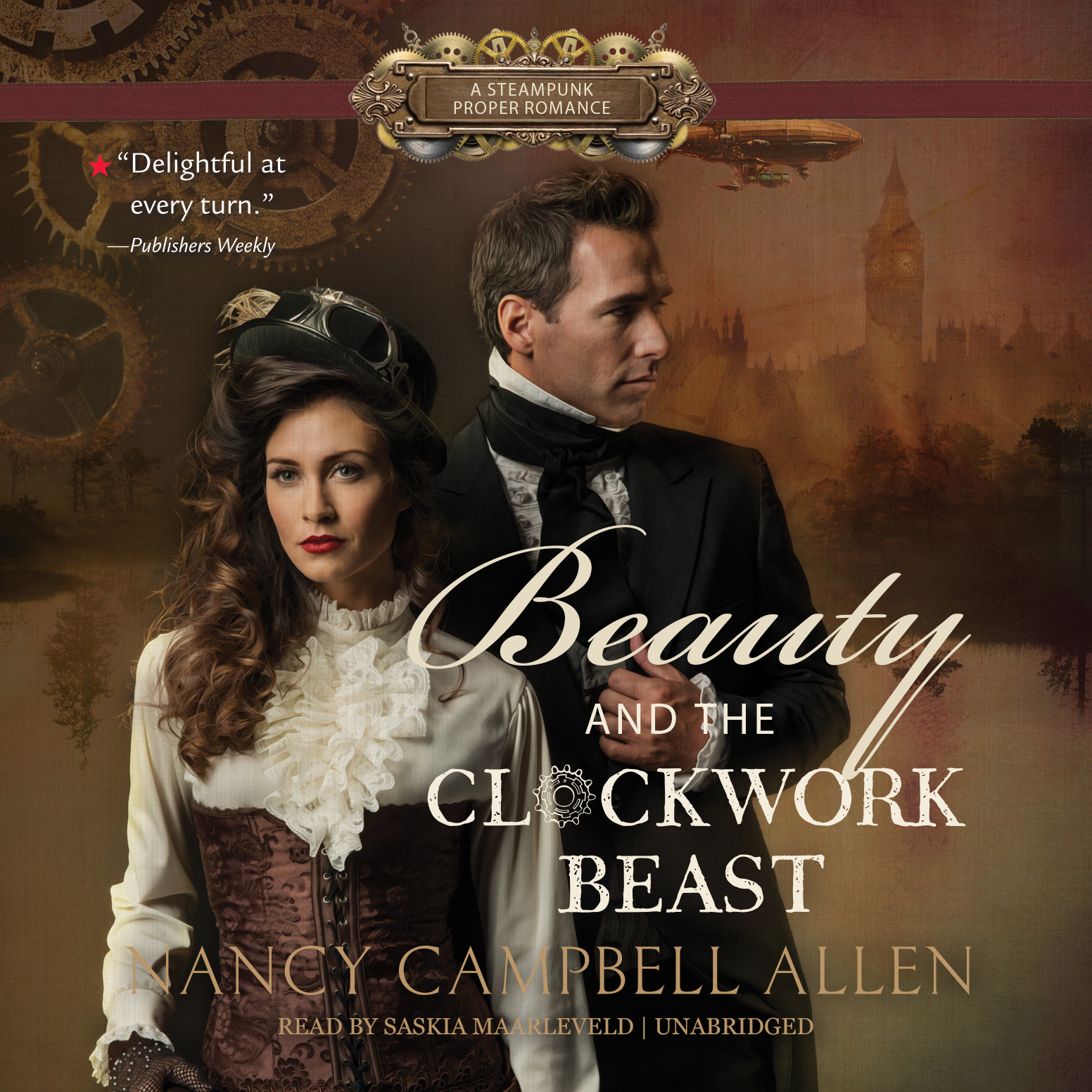 Printable Beauty and the Clockwork Beast Audiobook Cover Art