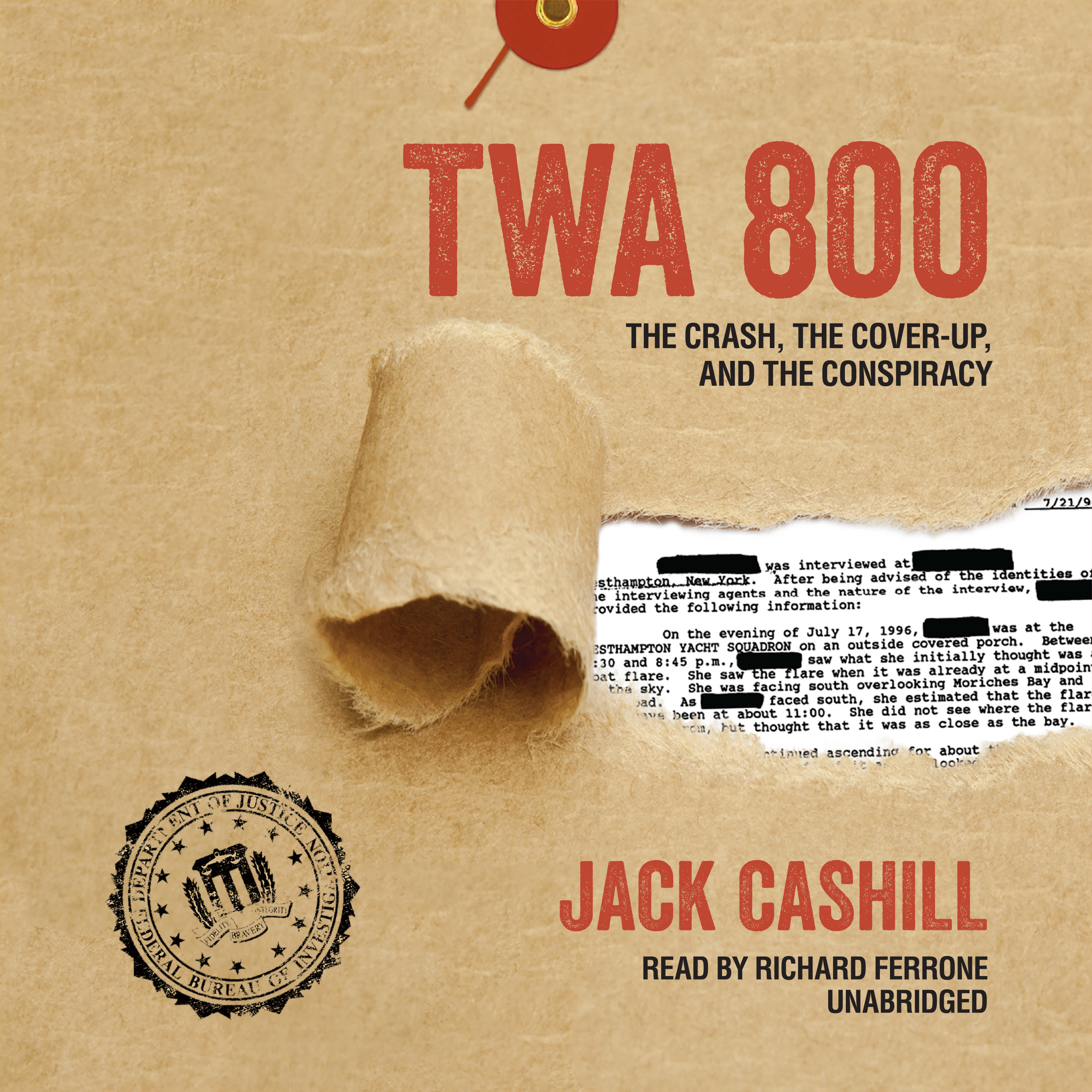 Printable TWA 800: The Crash, the Cover-Up, and the Conspiracy Audiobook Cover Art