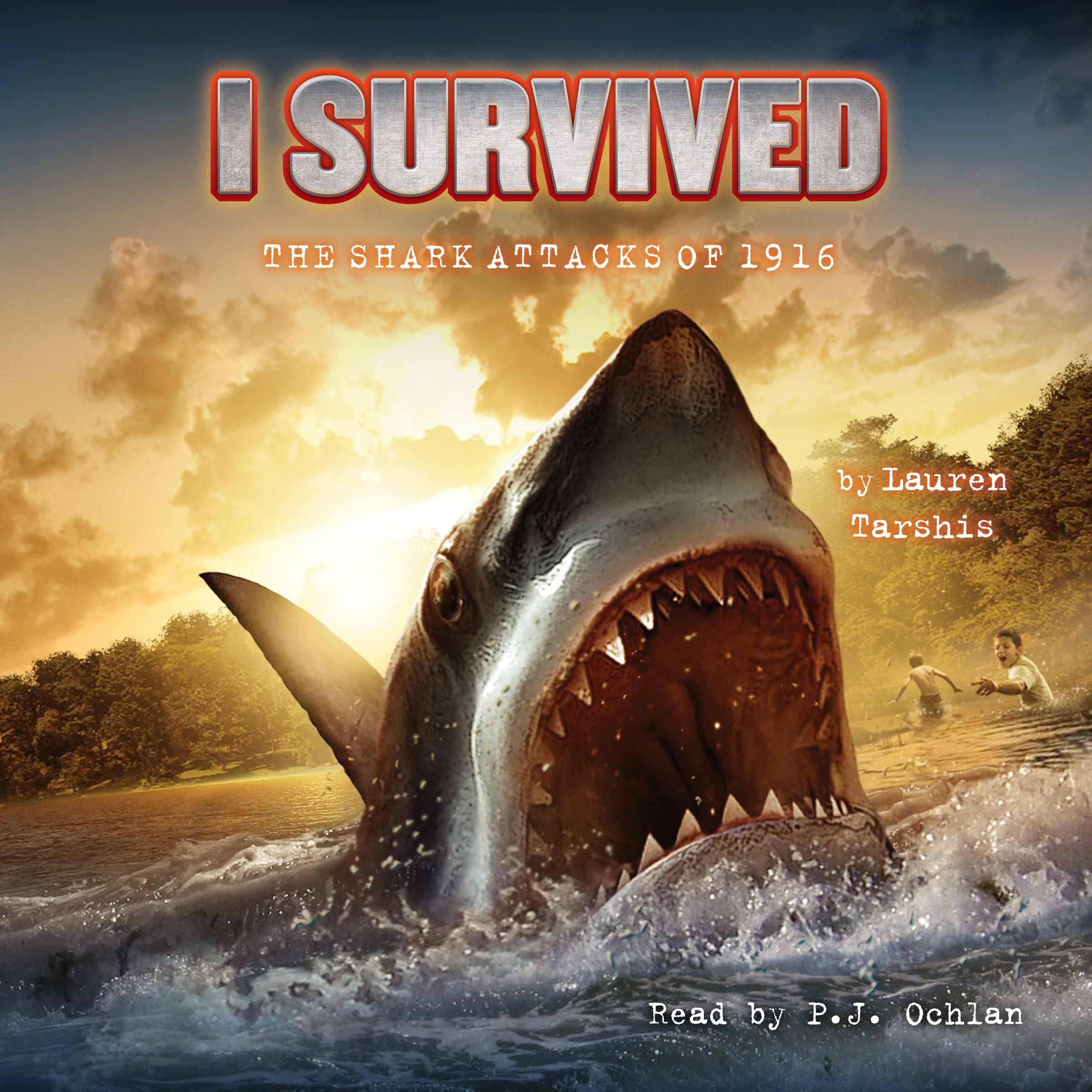 Printable I Survived the Shark Attacks of 1916 Audiobook Cover Art