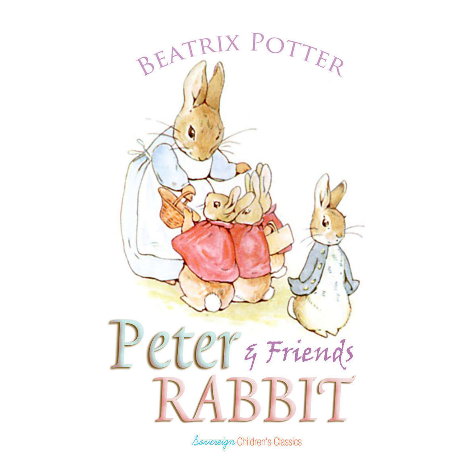 Printable Peter Rabbit and Friends Audiobook Cover Art