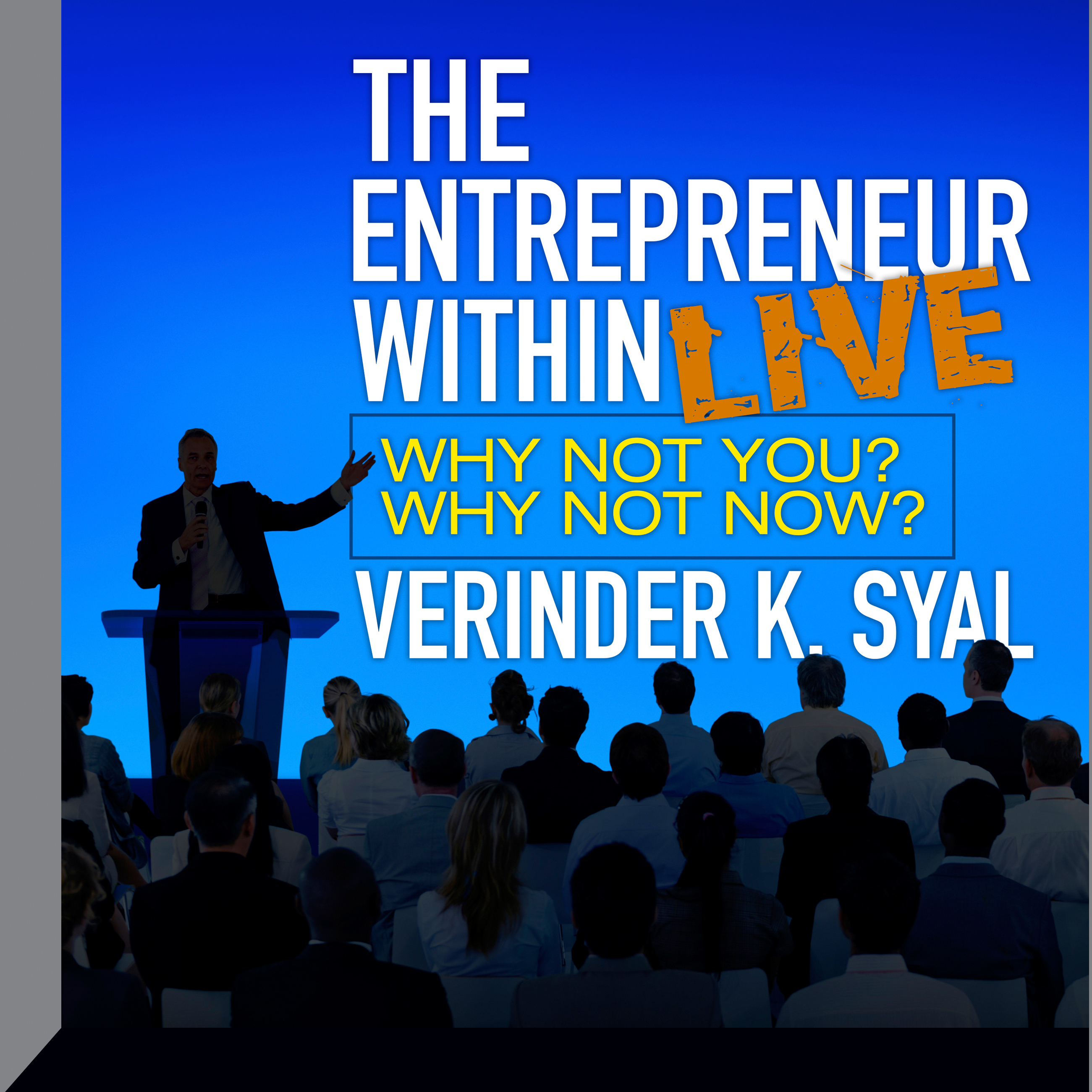 Printable The Entrepreneur Within Live Seminar: Why Not You?  Why Not Now? Audiobook Cover Art