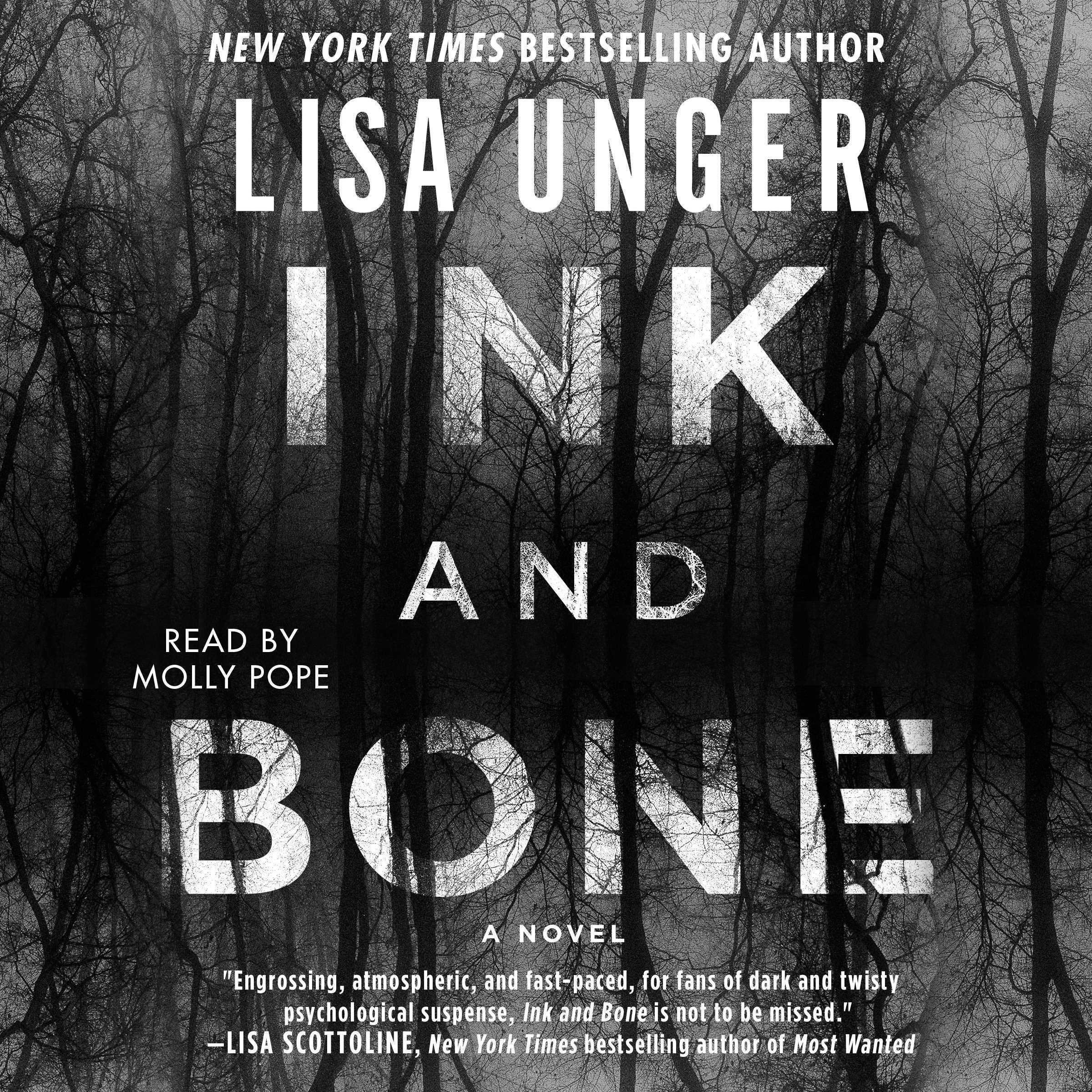 Printable Ink and Bone: A Novel Audiobook Cover Art