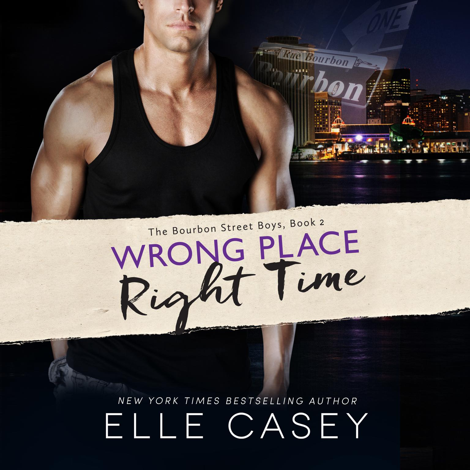 Printable Wrong Place, Right Time Audiobook Cover Art