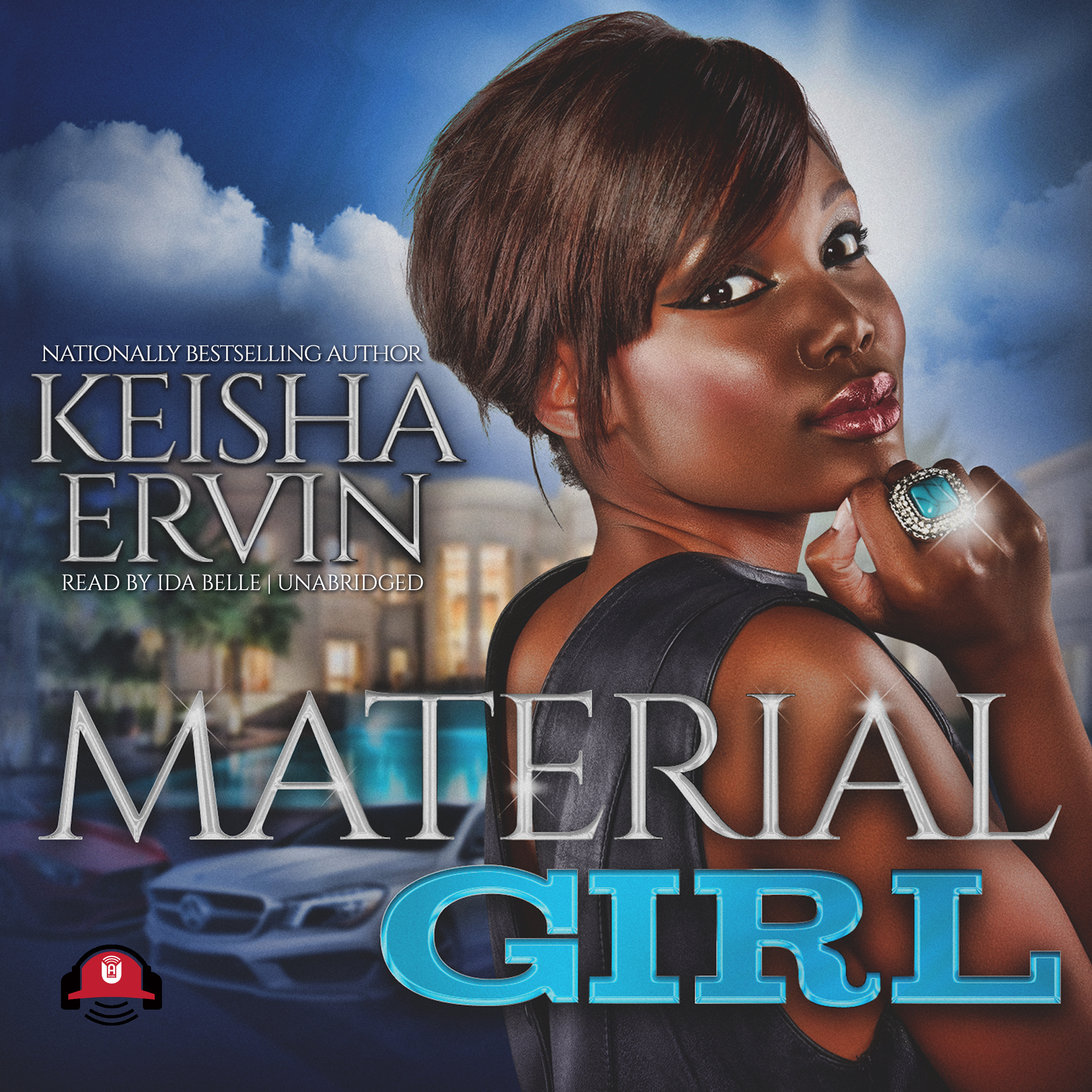 Printable Material Girl Audiobook Cover Art