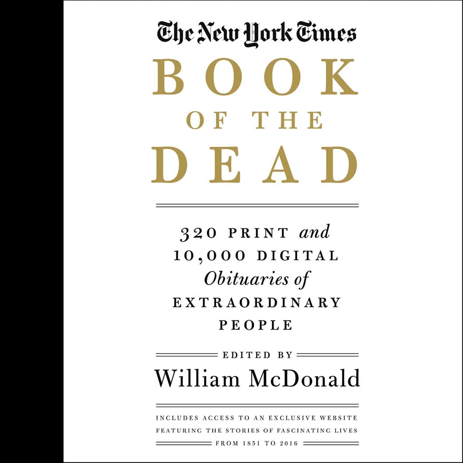 Printable The New York Times Book of the Dead: Obituaries of Extraordinary People Audiobook Cover Art