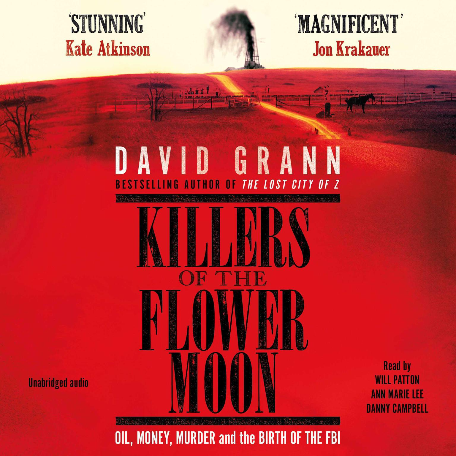 Printable Killers of the Flower Moon: The Osage Murders and the Birth of the FBI Audiobook Cover Art