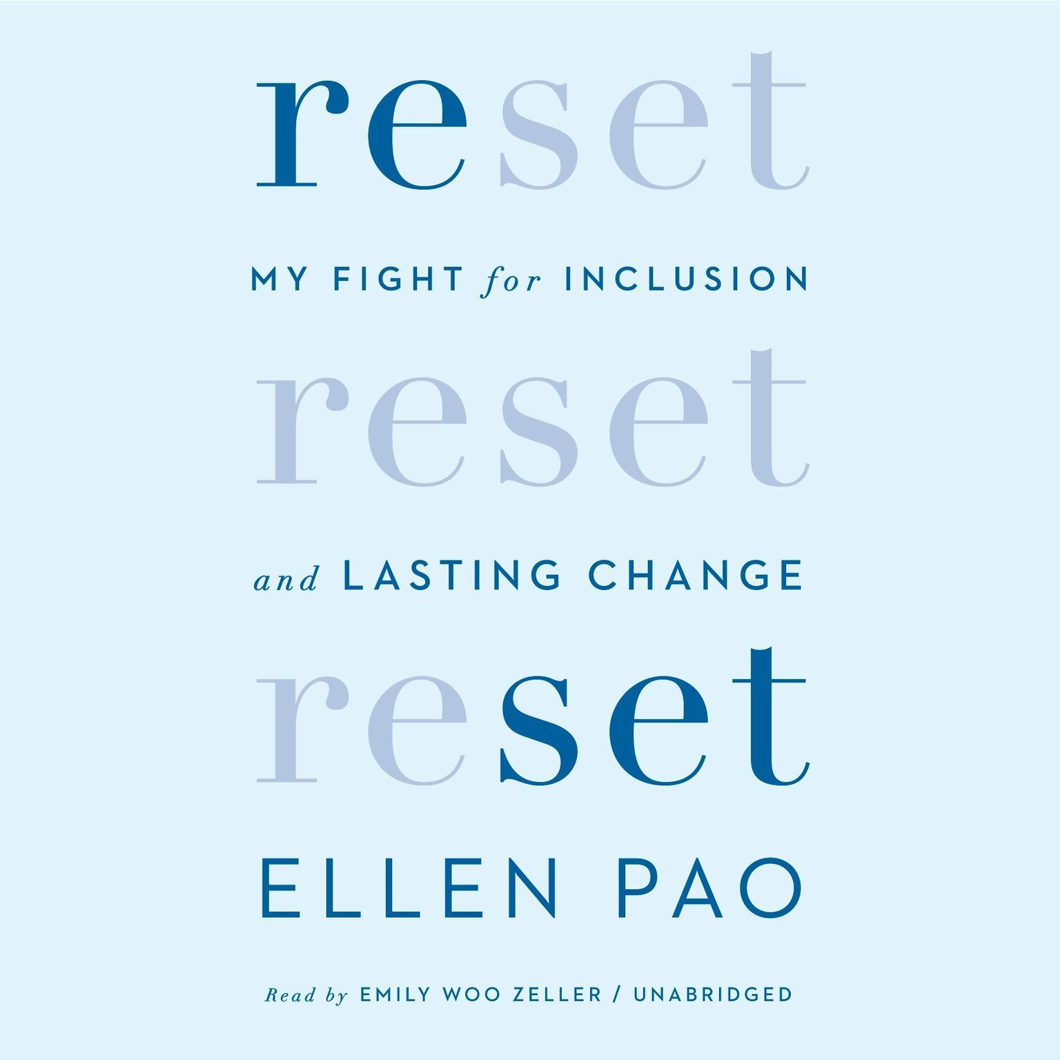 Printable Reset: My Fight for Inclusion and Lasting Change Audiobook Cover Art
